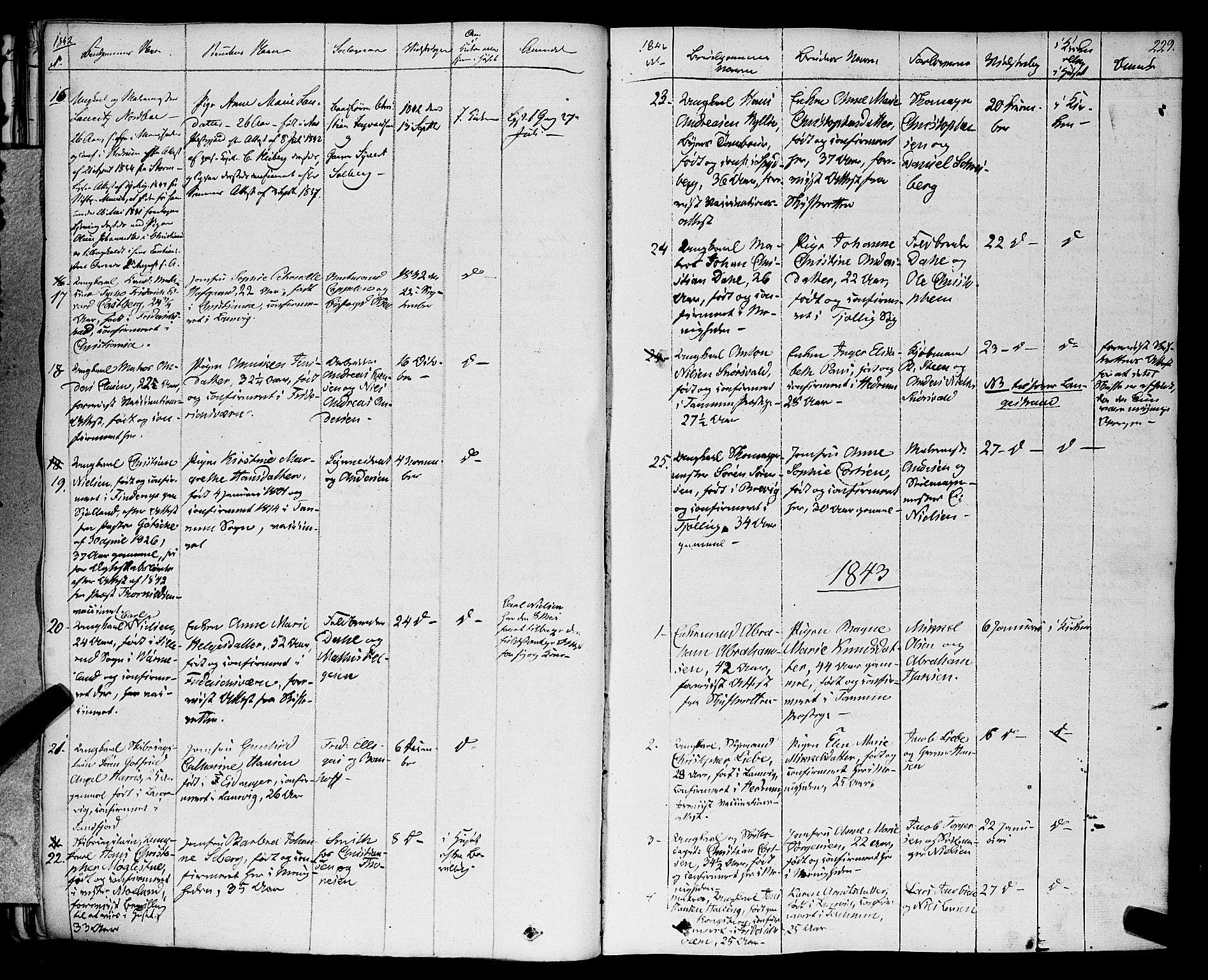 SAKO, Larvik kirkebøker, F/Fa/L0002: Ministerialbok nr. I 2, 1825-1847, s. 229