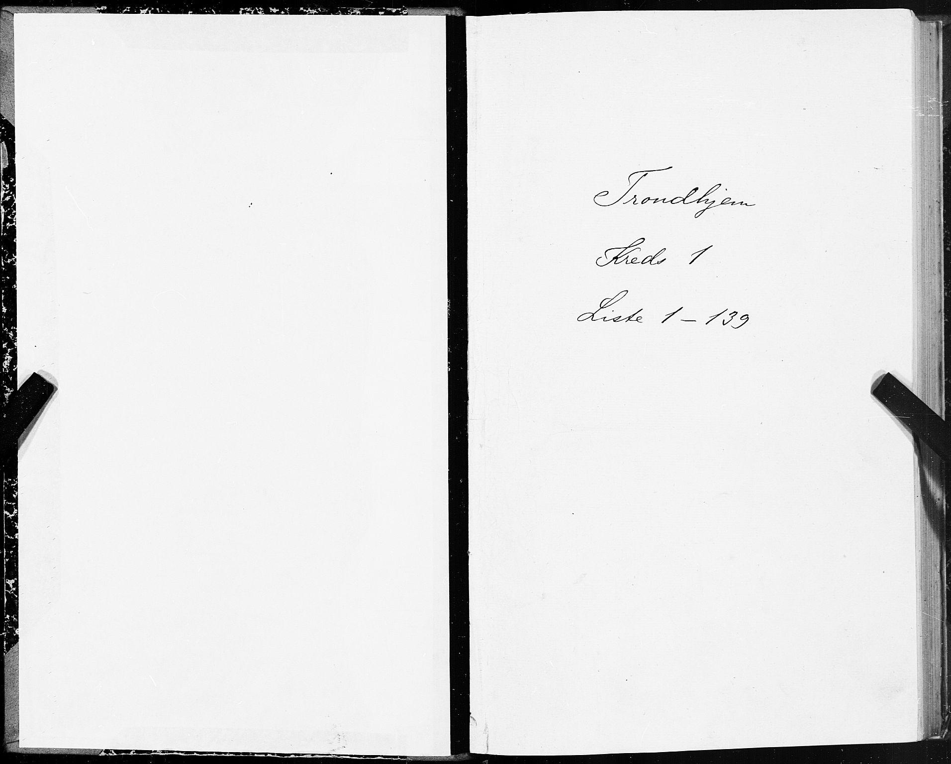 SAT, Folketelling 1875 for 1601 Trondheim kjøpstad, 1875