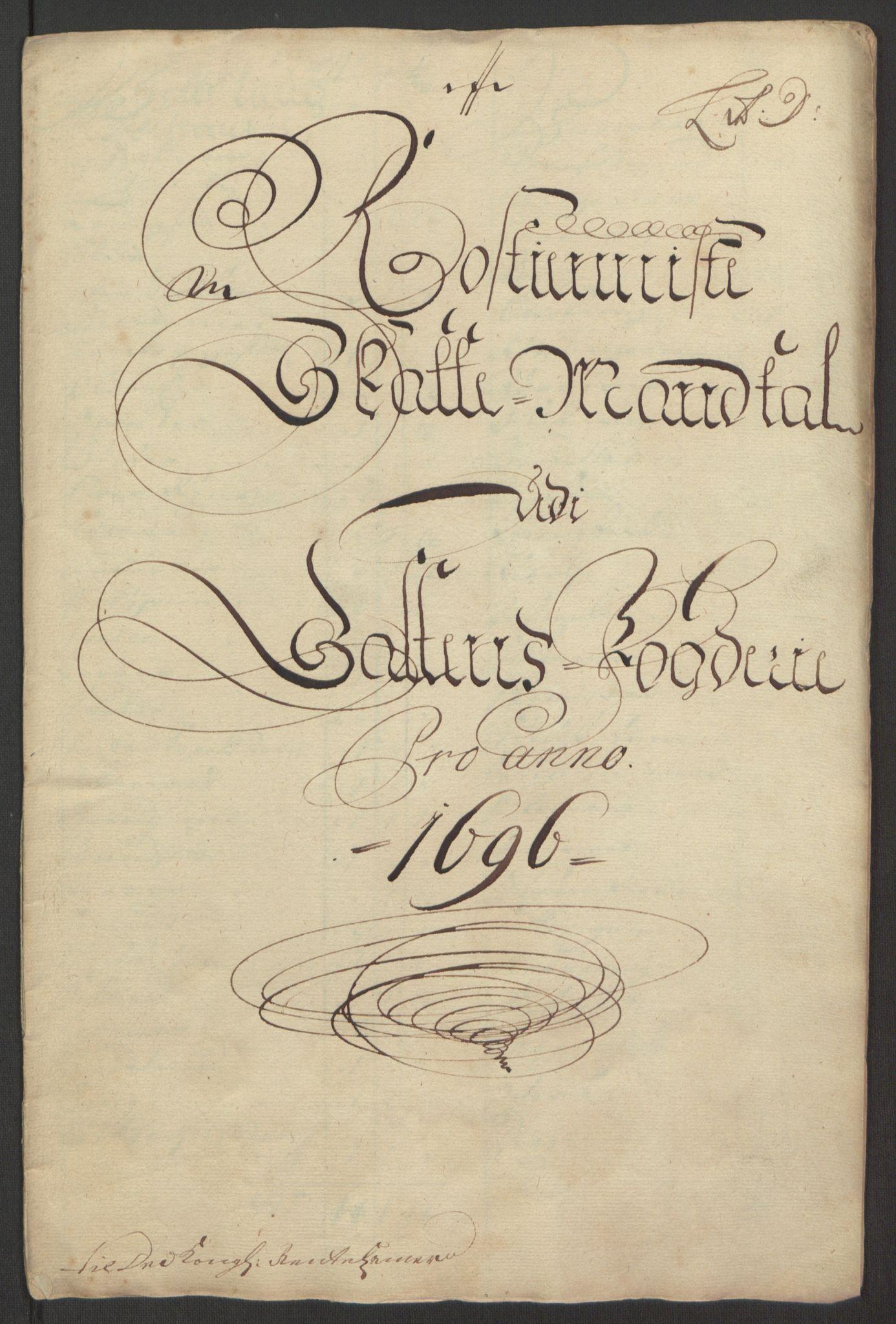 RA, Rentekammeret inntil 1814, Reviderte regnskaper, Fogderegnskap, R66/L4578: Fogderegnskap Salten, 1694-1696, s. 243