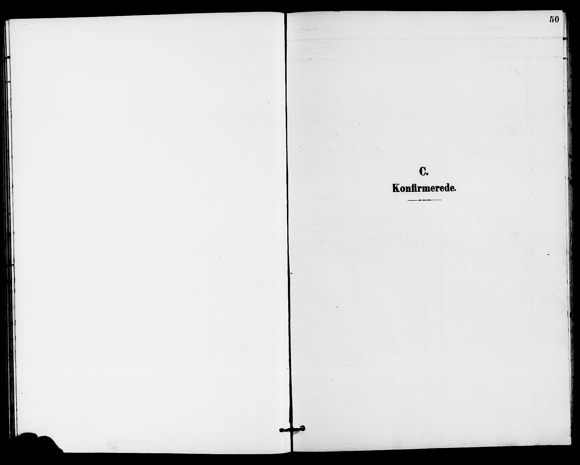 SAKO, Holla kirkebøker, G/Gb/L0002: Klokkerbok nr. II 2, 1897-1913, s. 50