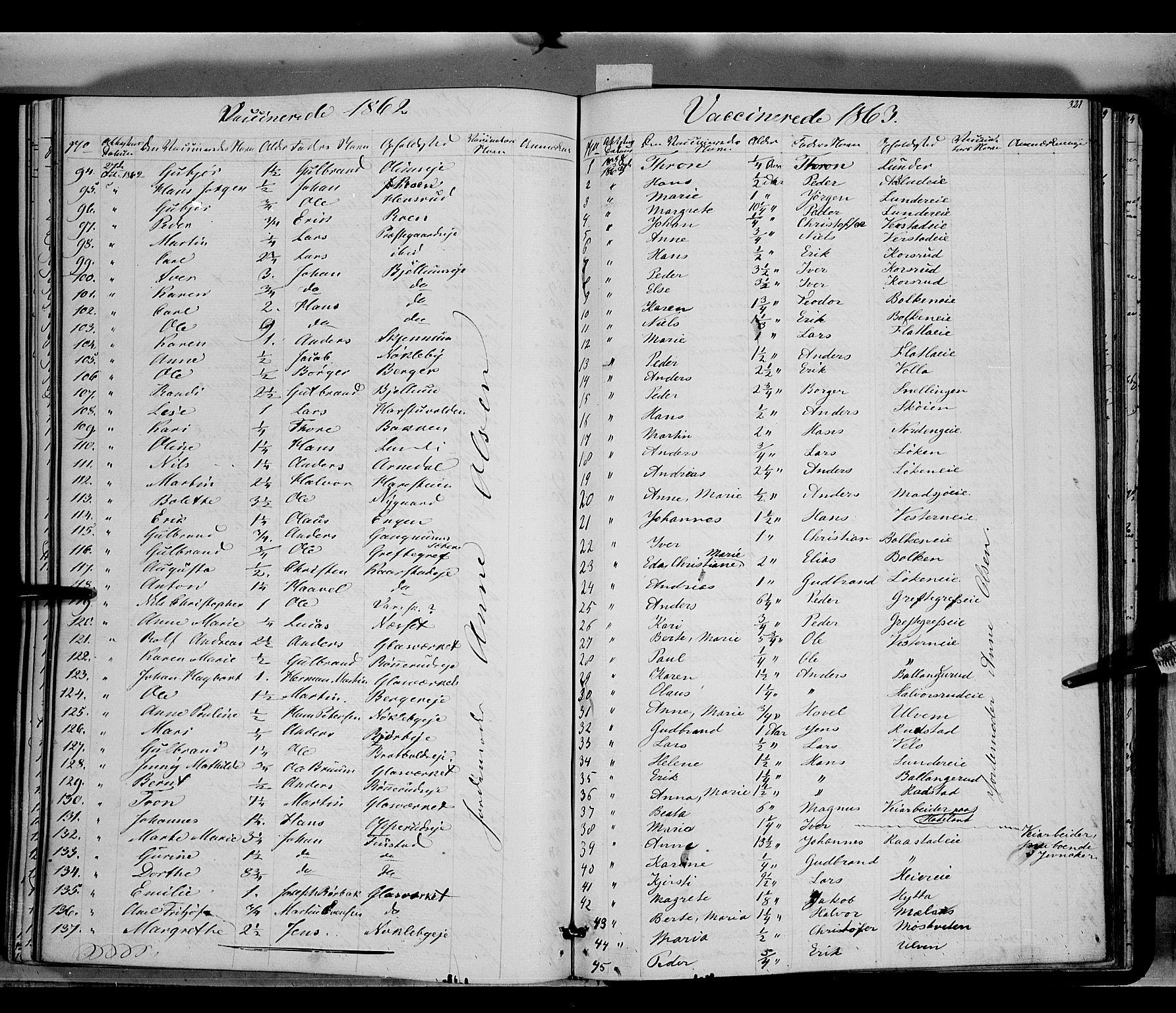 SAH, Jevnaker prestekontor, Ministerialbok nr. 7, 1858-1876, s. 321