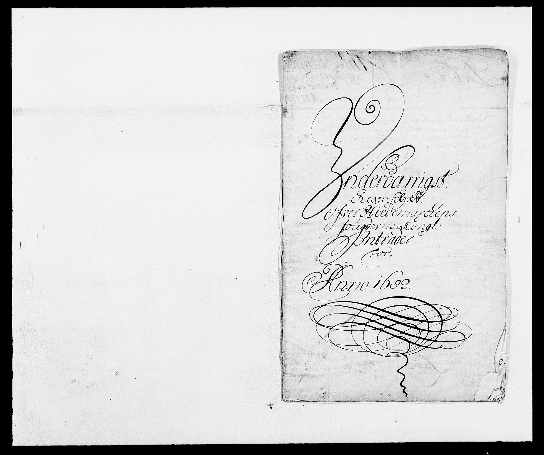 RA, Rentekammeret inntil 1814, Reviderte regnskaper, Fogderegnskap, R16/L1024: Fogderegnskap Hedmark, 1683, s. 2