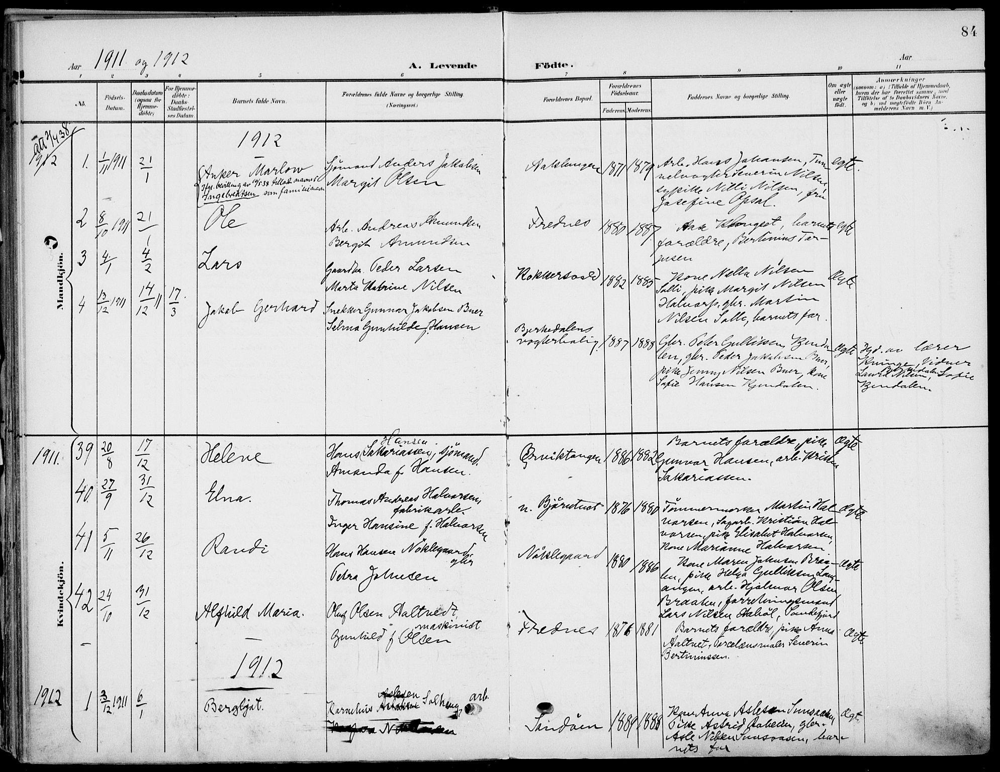 SAKO, Eidanger kirkebøker, F/Fa/L0013: Ministerialbok nr. 13, 1900-1913, s. 84