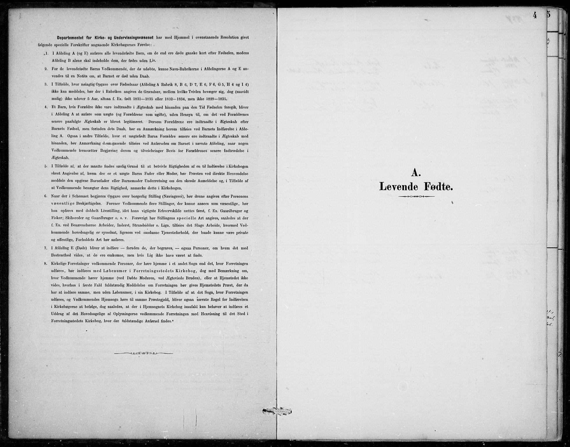 SAB, Strandebarm sokneprestembete, H/Haa: Ministerialbok nr. D  1, 1886-1912, s. 4