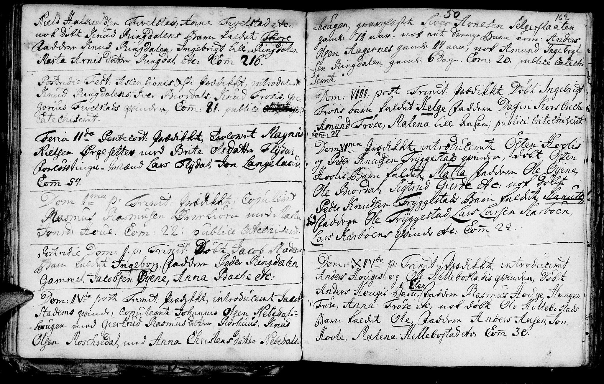 SAT, Ministerialprotokoller, klokkerbøker og fødselsregistre - Møre og Romsdal, 519/L0241: Ministerialbok nr. 519A01 /2, 1736-1760, s. 162