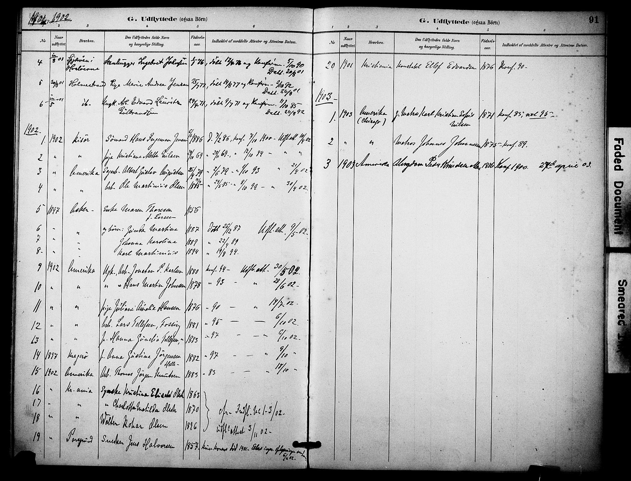 SAKO, Skåtøy kirkebøker, F/Fa/L0004: Ministerialbok nr. I 4, 1884-1900, s. 91