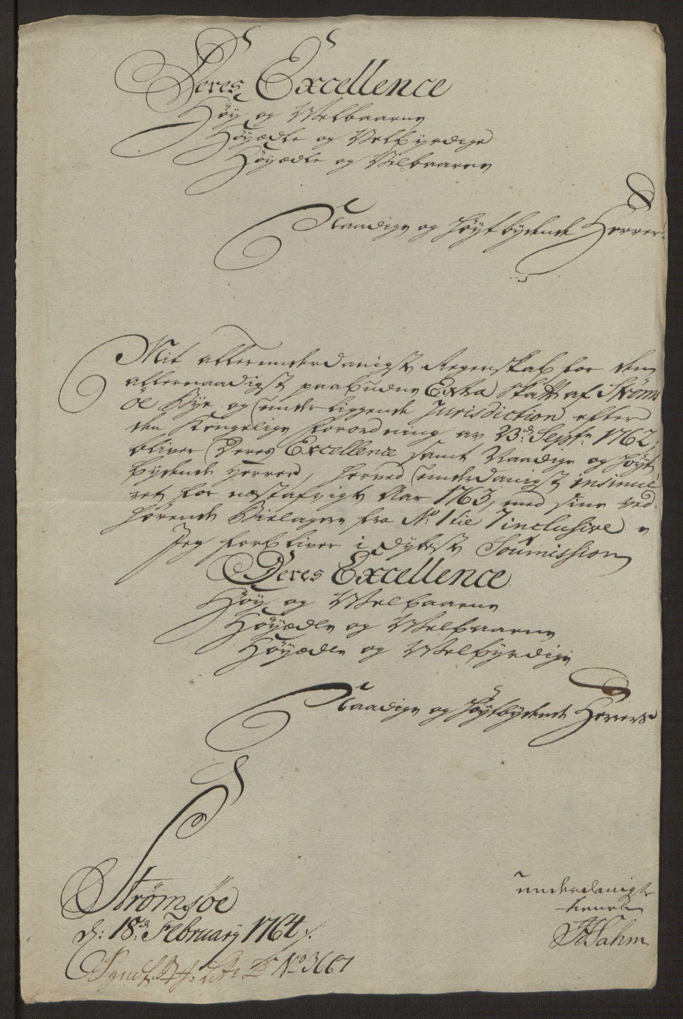 RA, Rentekammeret inntil 1814, Reviderte regnskaper, Byregnskaper, R/Rg/L0144: [G4] Kontribusjonsregnskap, 1762-1767, s. 187