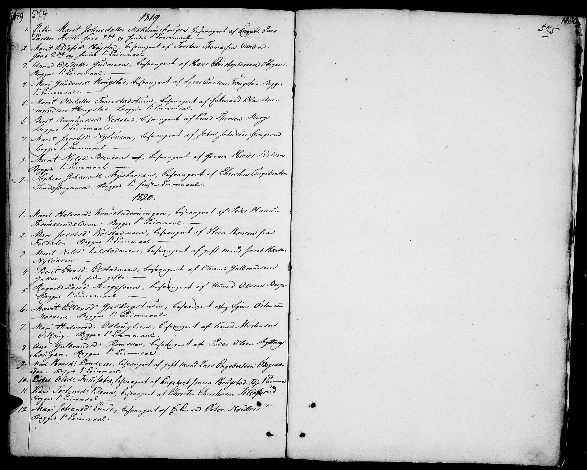 SAH, Ringebu prestekontor, Ministerialbok nr. 3, 1781-1820, s. 574-575