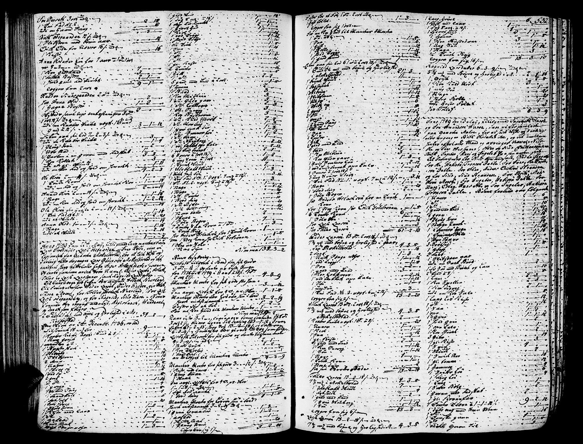 SAT, Romsdal sorenskriveri, 3/3A/L0007: Skifteprotokoll, 1740-1751, s. 531b-532a