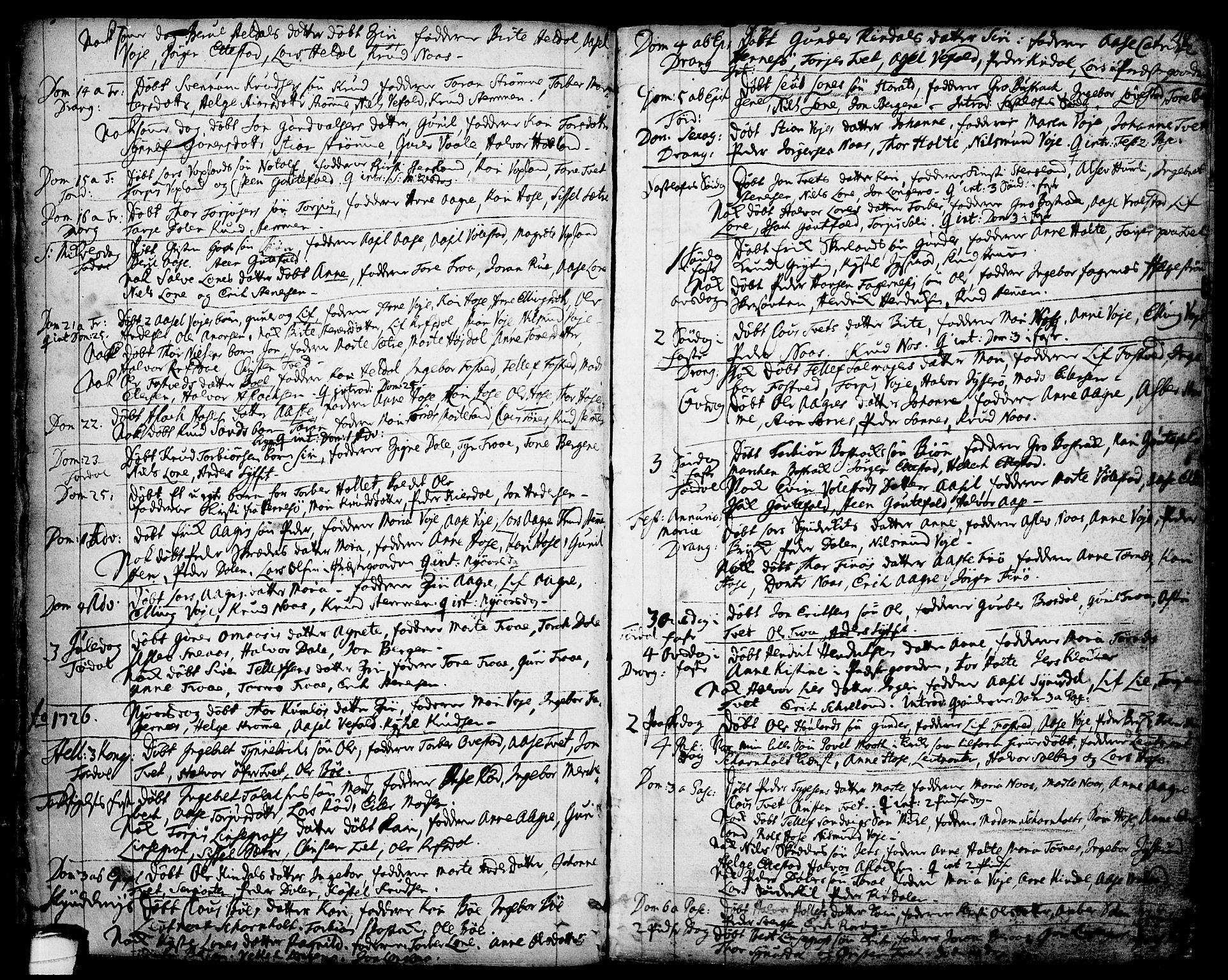 SAKO, Drangedal kirkebøker, F/Fa/L0001: Ministerialbok nr. 1, 1697-1767, s. 48