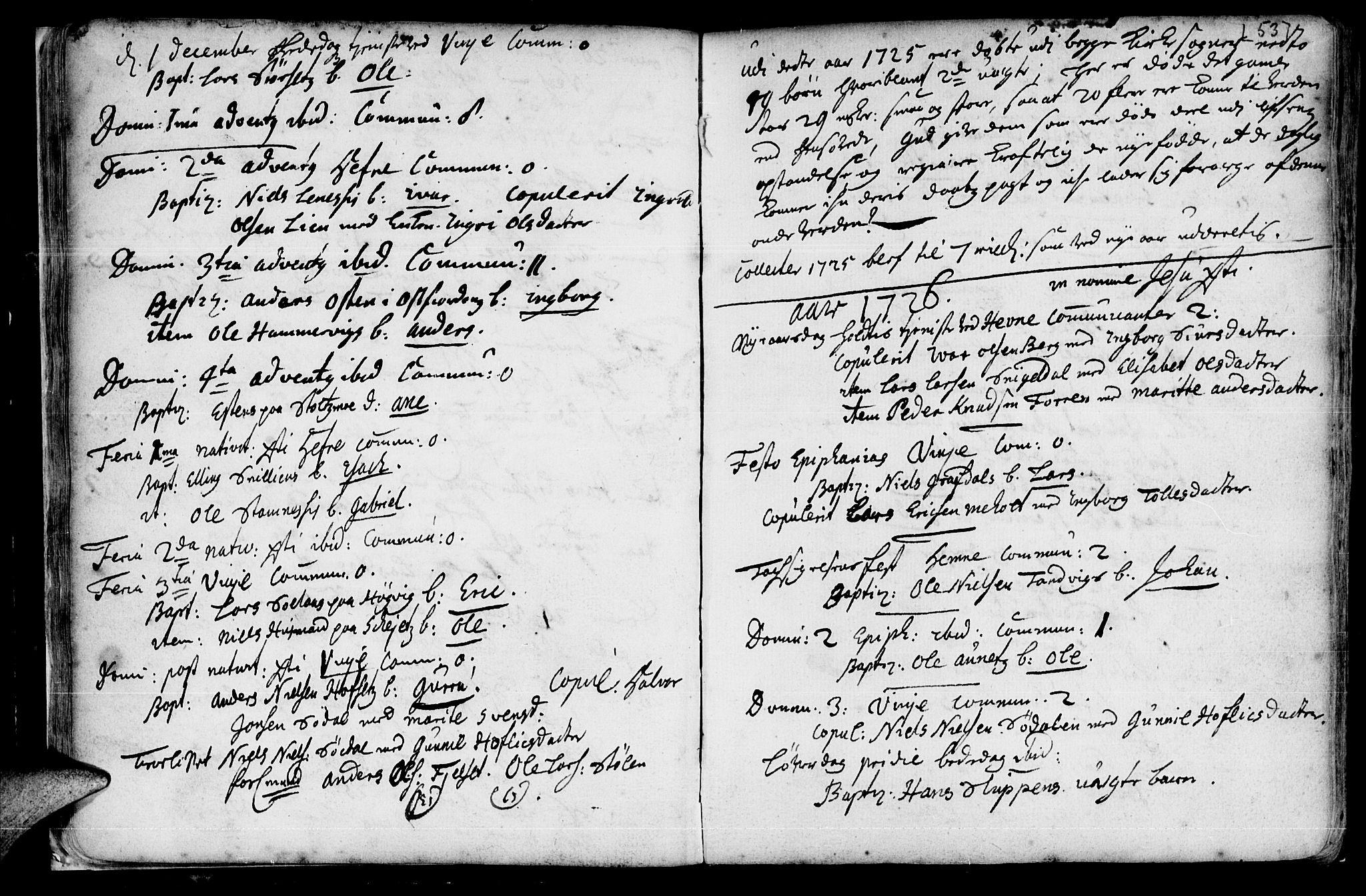 SAT, Ministerialprotokoller, klokkerbøker og fødselsregistre - Sør-Trøndelag, 630/L0488: Ministerialbok nr. 630A01, 1717-1756, s. 52-53