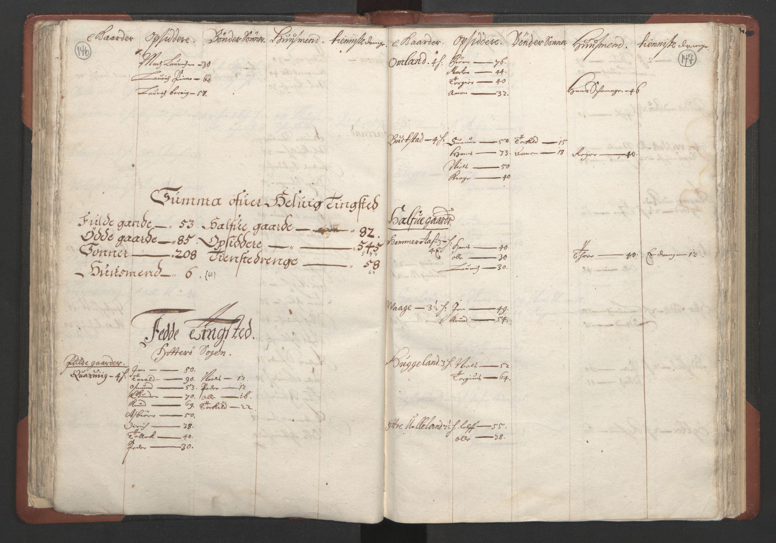 RA, Fogdenes og sorenskrivernes manntall 1664-1666, nr. 10: Lista len, 1664, s. 146-147