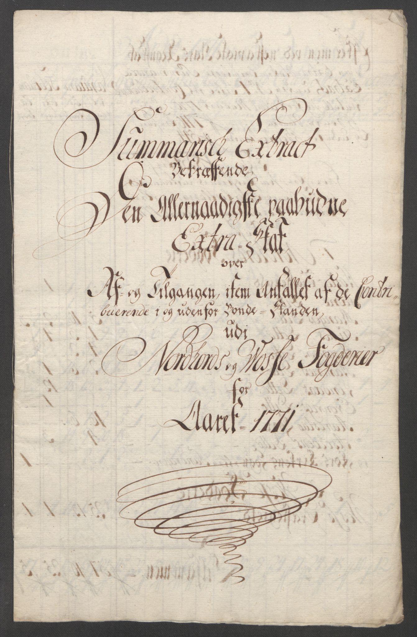 RA, Rentekammeret inntil 1814, Reviderte regnskaper, Fogderegnskap, R51/L3303: Ekstraskatten Nordhordland og Voss, 1762-1772, s. 590