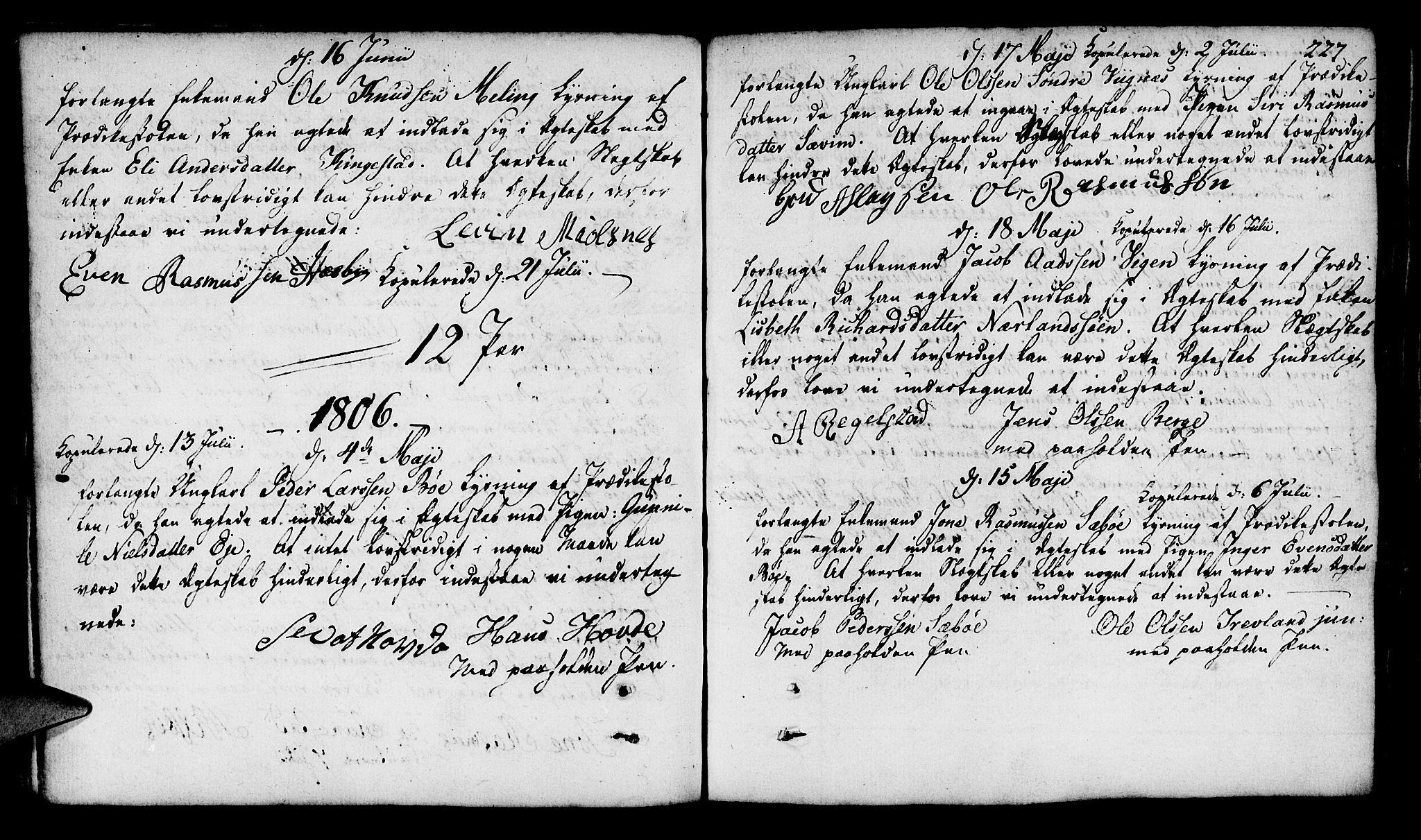 SAST, Finnøy sokneprestkontor, H/Ha/Haa/L0005: Ministerialbok nr. A 5, 1773-1816, s. 227