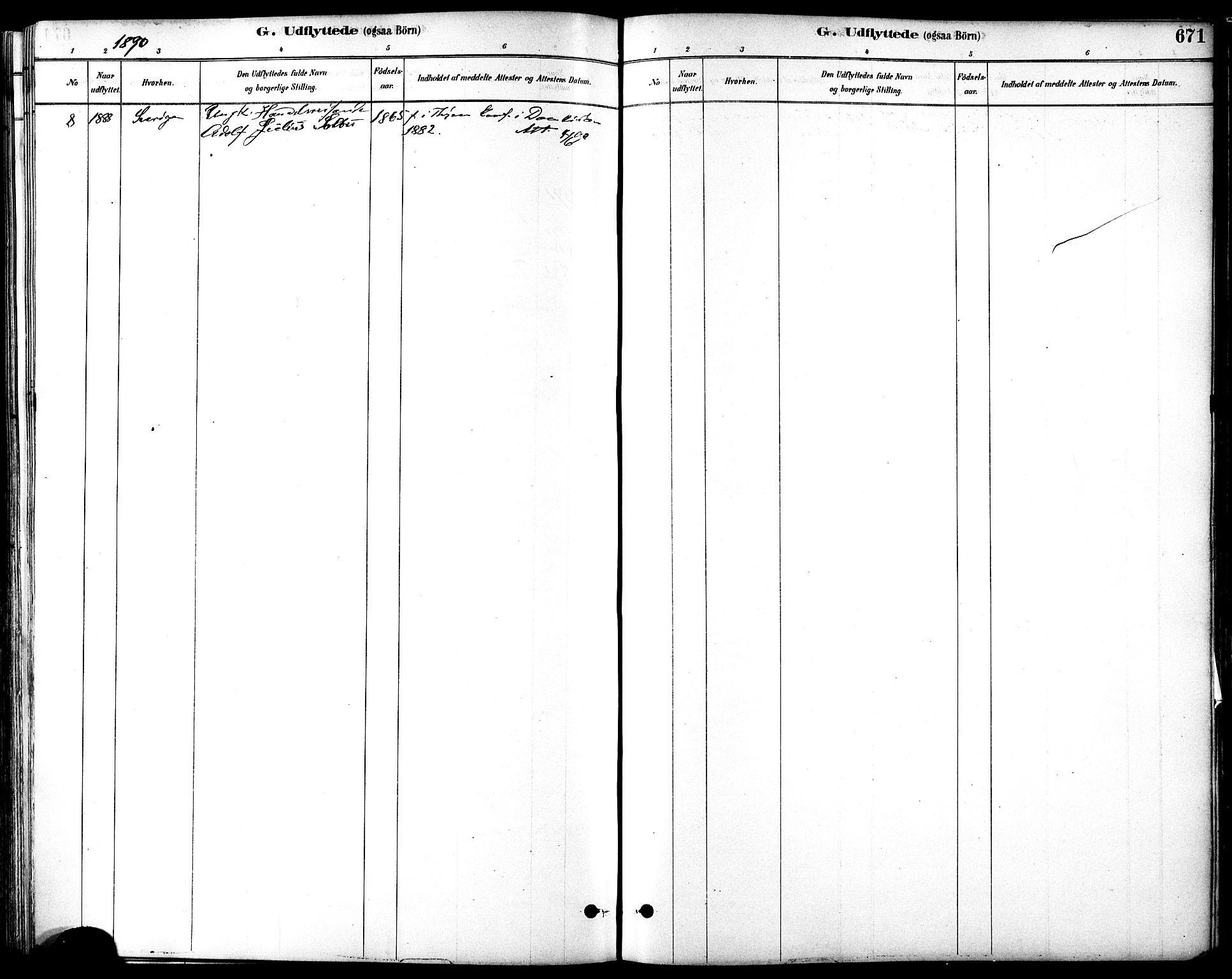 SAT, Ministerialprotokoller, klokkerbøker og fødselsregistre - Sør-Trøndelag, 601/L0058: Ministerialbok nr. 601A26, 1877-1891, s. 671