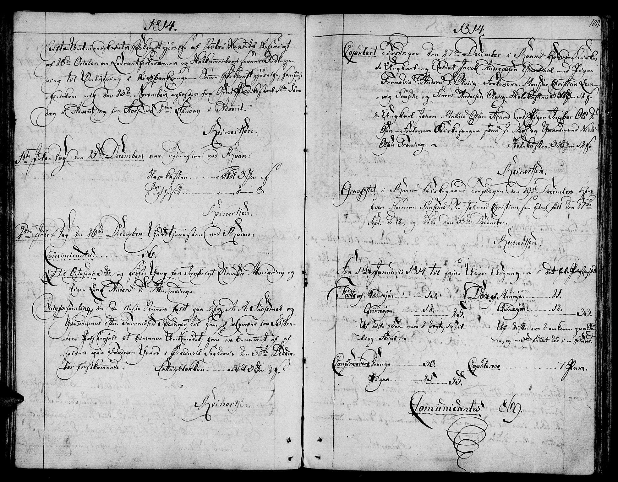SAT, Ministerialprotokoller, klokkerbøker og fødselsregistre - Sør-Trøndelag, 657/L0701: Ministerialbok nr. 657A02, 1802-1831, s. 109