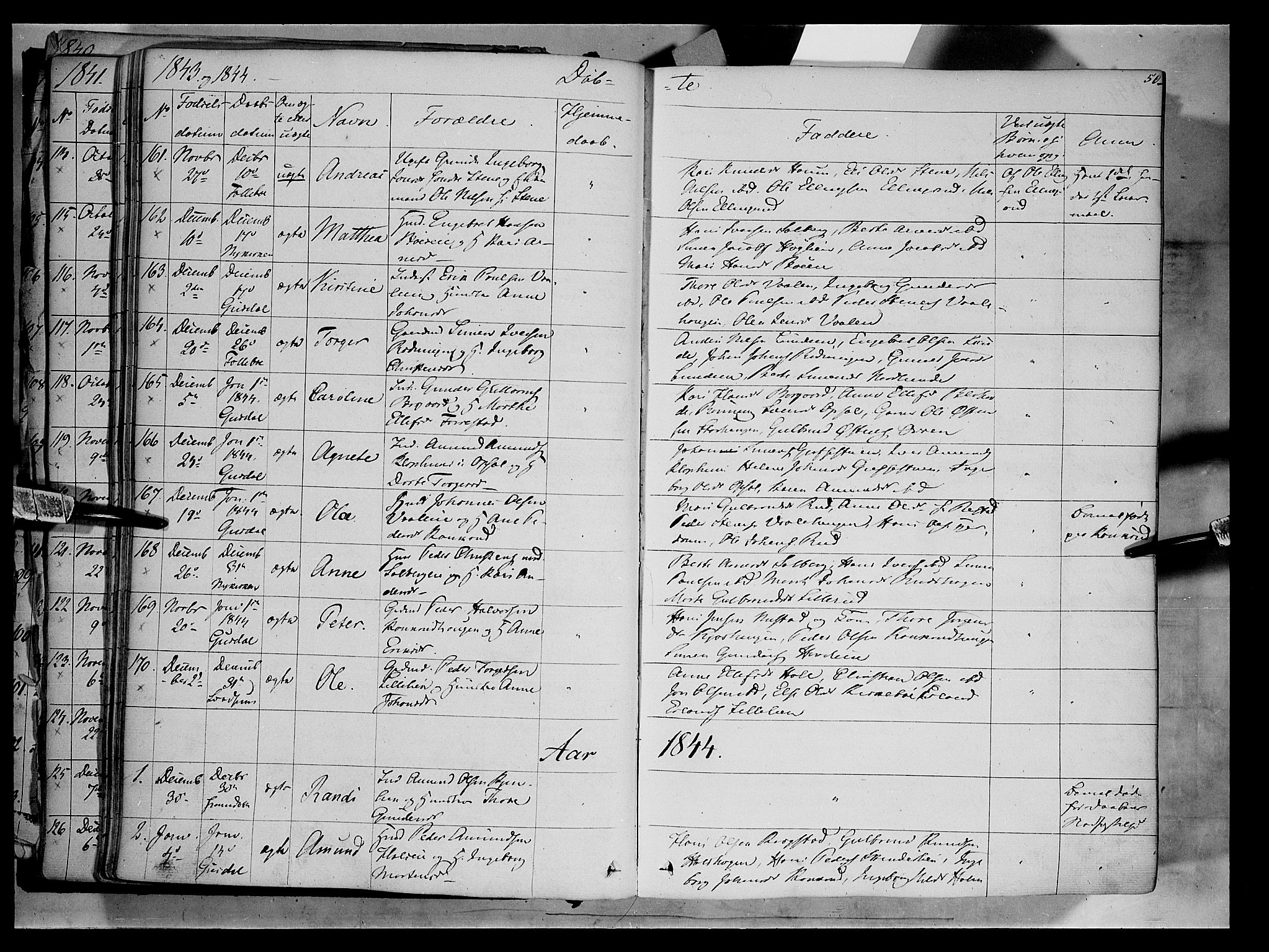 SAH, Gausdal prestekontor, Ministerialbok nr. 7, 1840-1850, s. 50