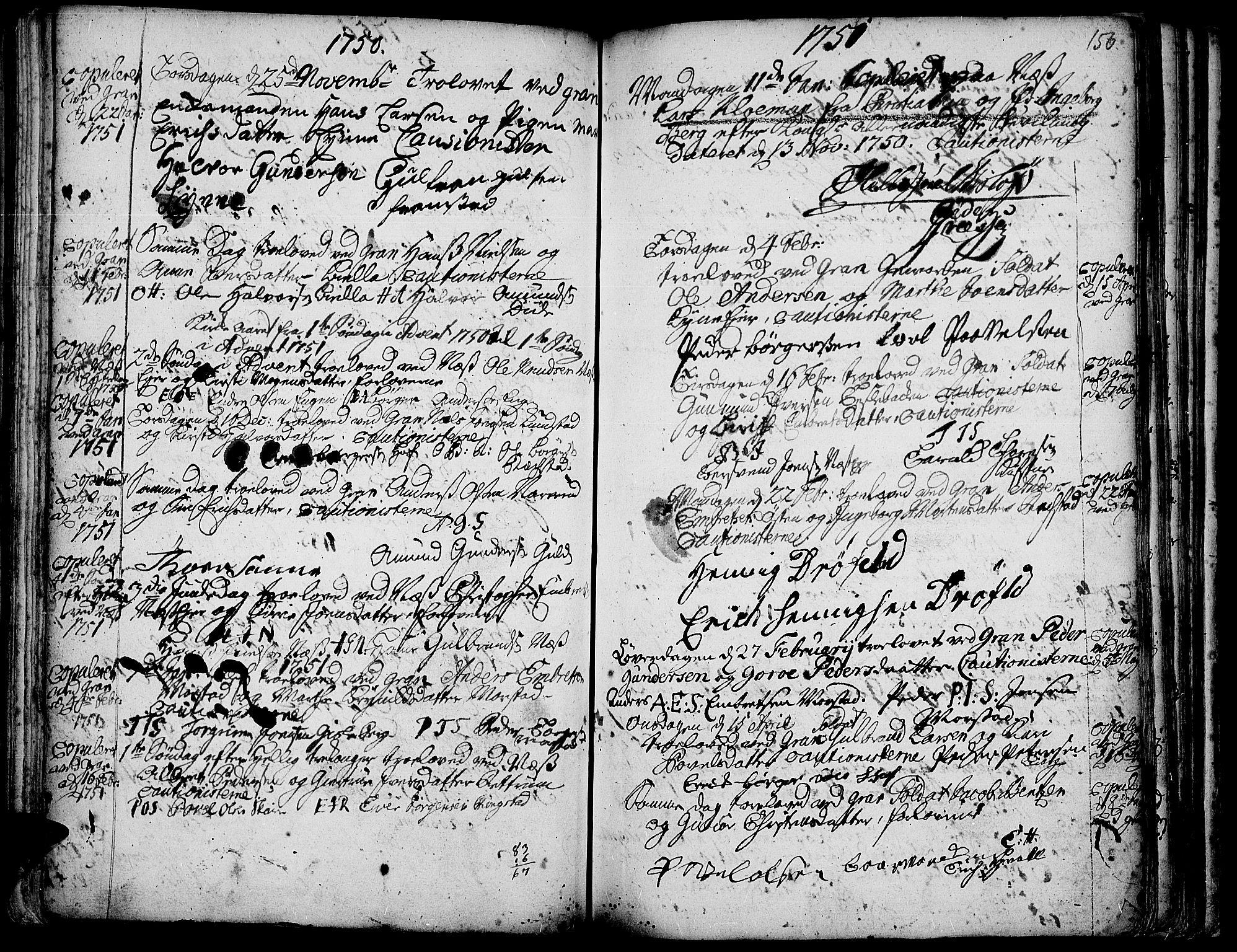 SAH, Gran prestekontor, Ministerialbok nr. 3, 1745-1758, s. 156