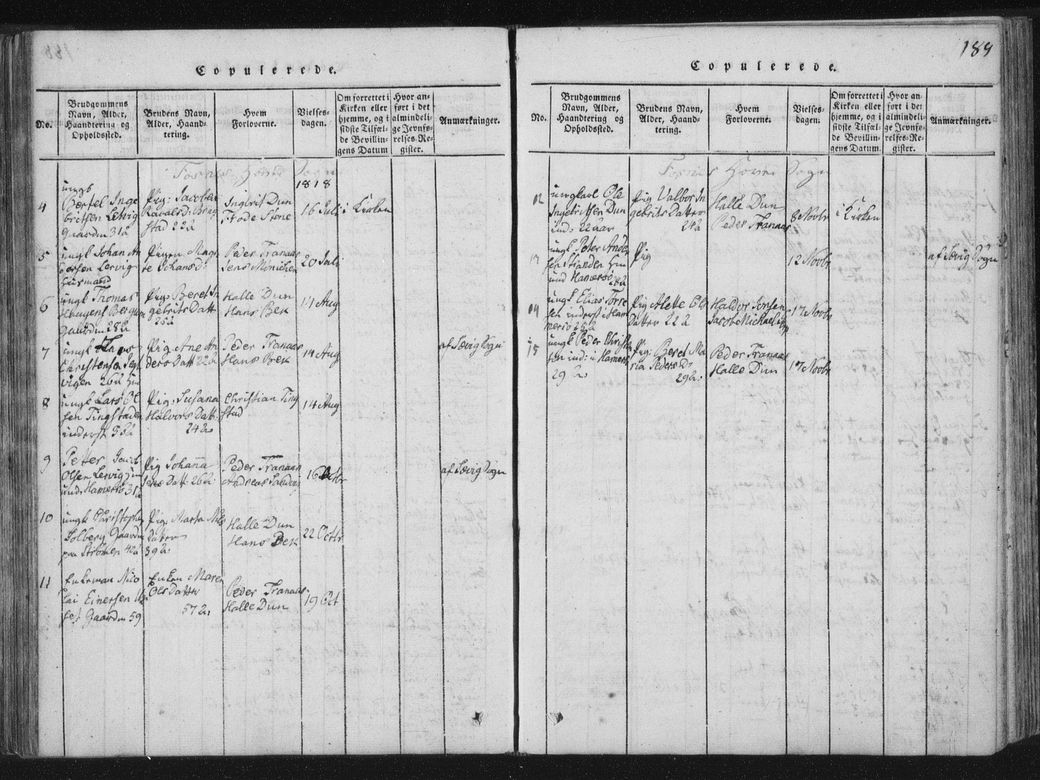 SAT, Ministerialprotokoller, klokkerbøker og fødselsregistre - Nord-Trøndelag, 773/L0609: Ministerialbok nr. 773A03 /1, 1815-1830, s. 189
