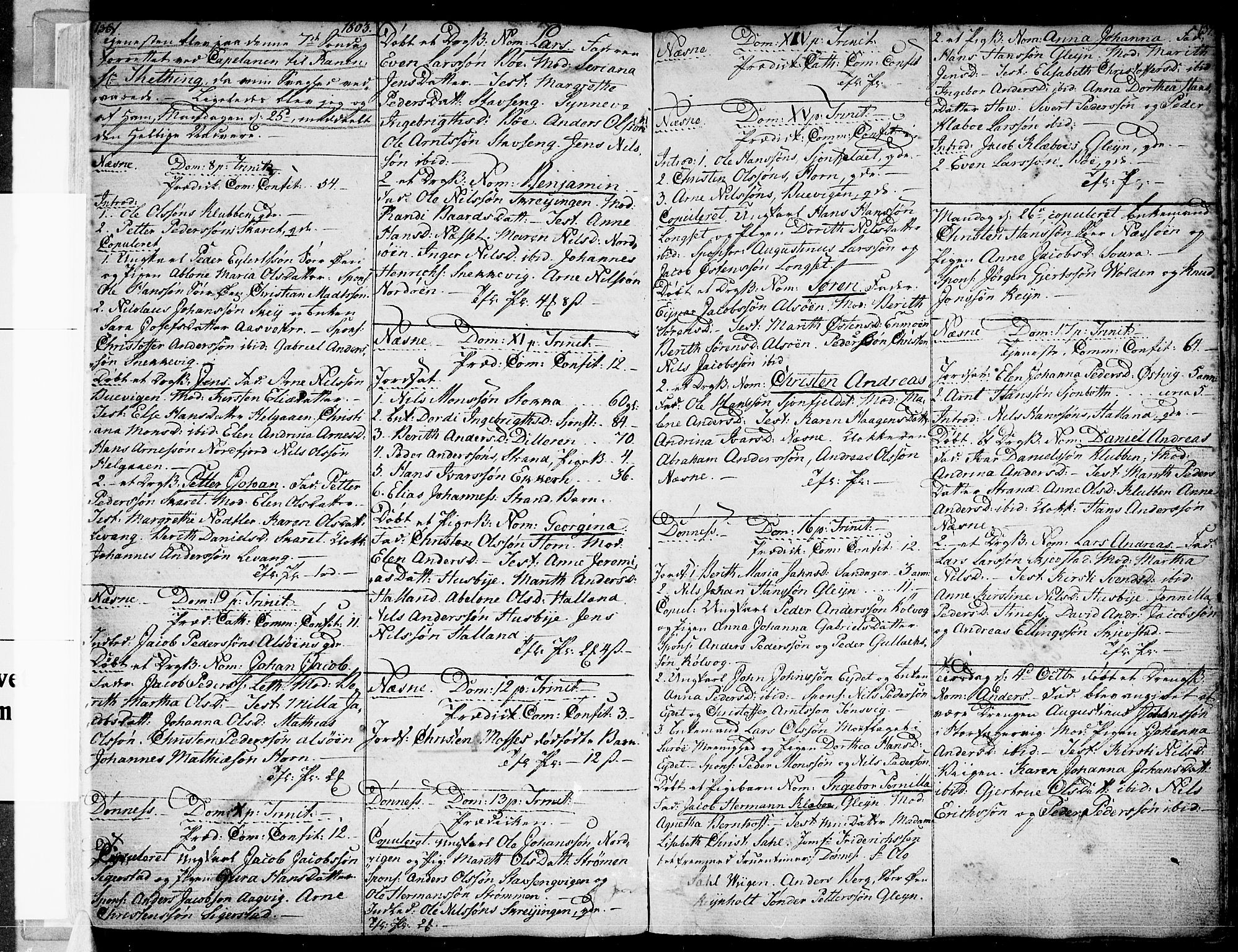 SAT, Ministerialprotokoller, klokkerbøker og fødselsregistre - Nordland, 838/L0545: Ministerialbok nr. 838A04, 1791-1820, s. 136-137