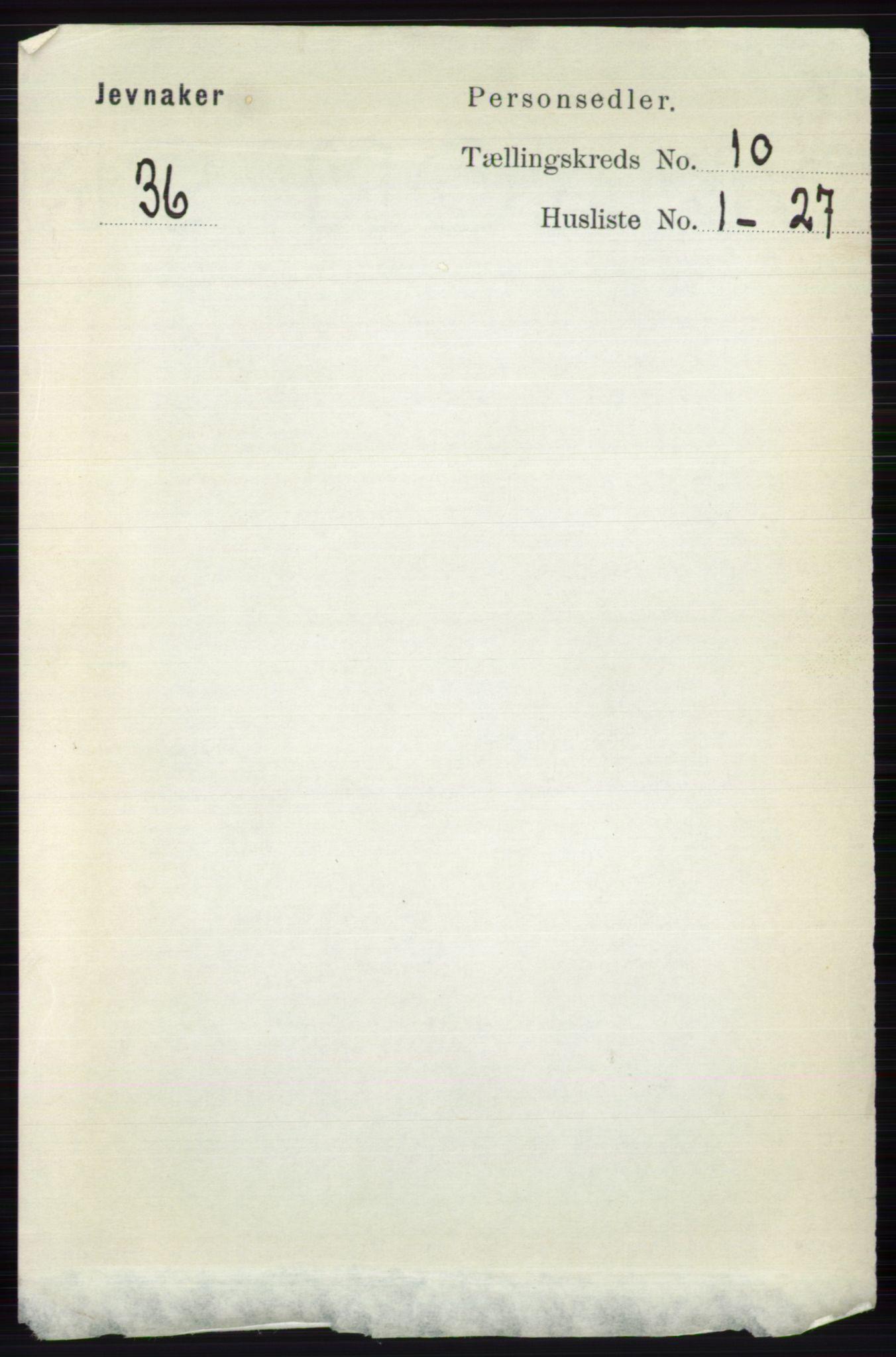 RA, Folketelling 1891 for 0532 Jevnaker herred, 1891, s. 5515