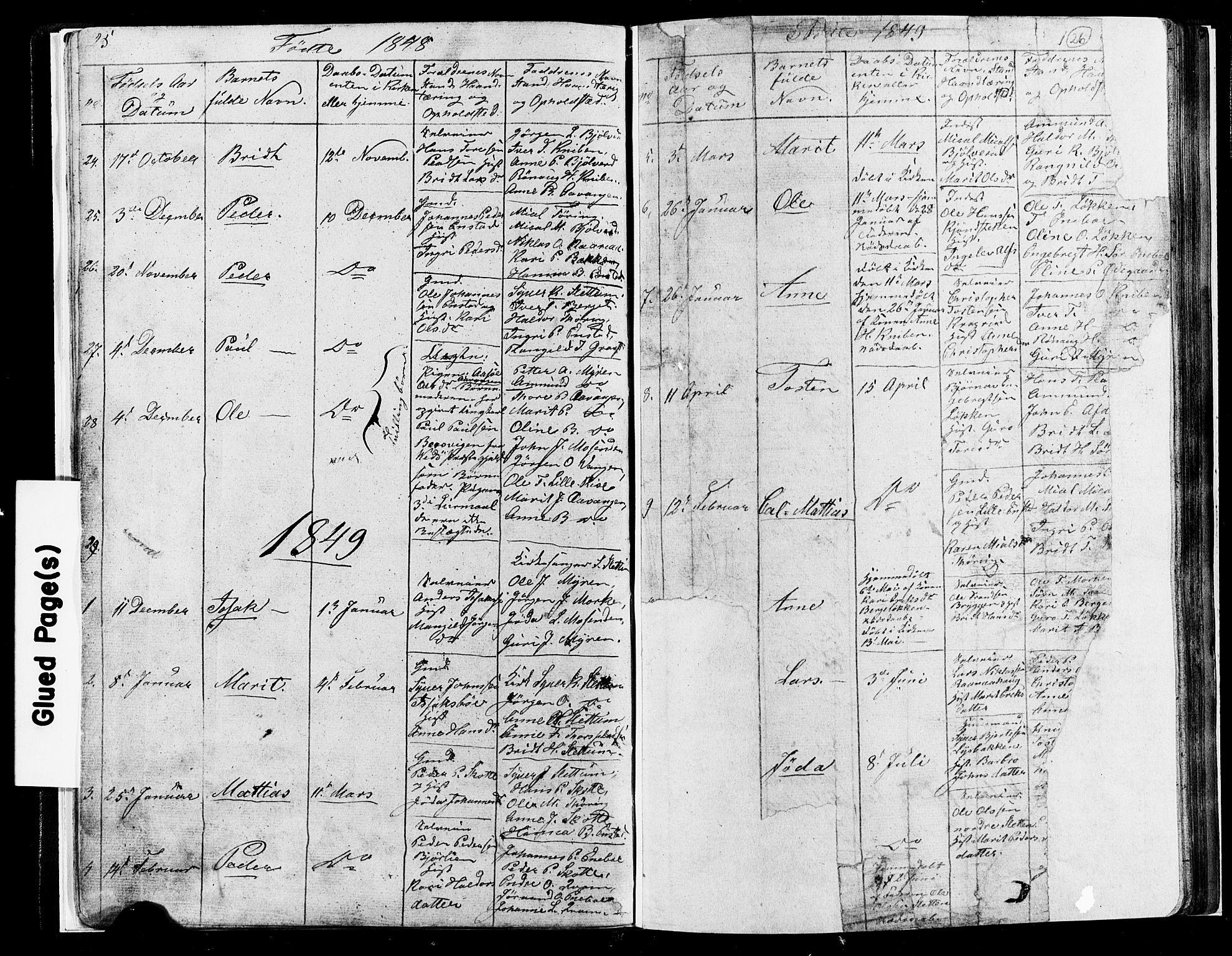 SAH, Lesja prestekontor, Klokkerbok nr. 4, 1842-1871, s. 25-26