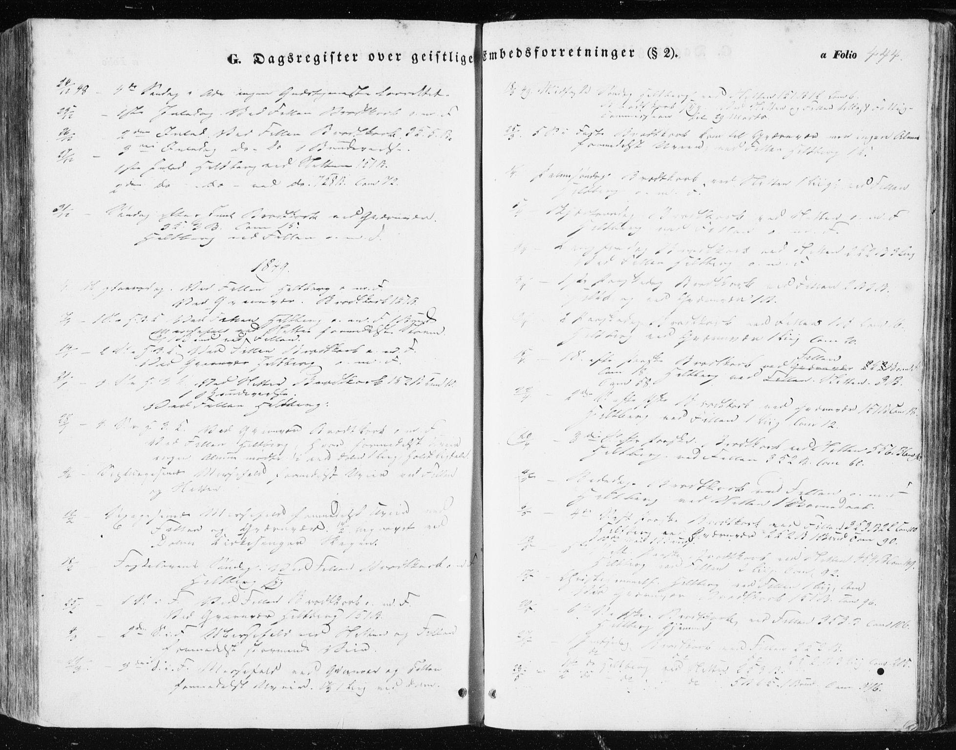 SAT, Ministerialprotokoller, klokkerbøker og fødselsregistre - Sør-Trøndelag, 634/L0529: Ministerialbok nr. 634A05, 1843-1851, s. 444