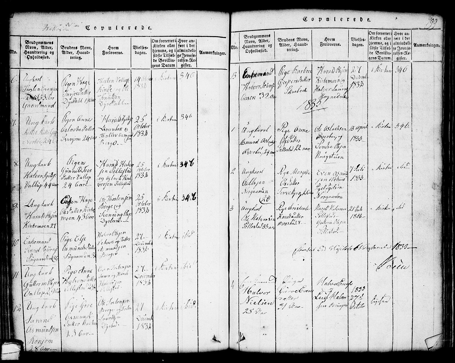 SAKO, Seljord kirkebøker, G/Gc/L0001: Klokkerbok nr. III 1, 1815-1849, s. 199