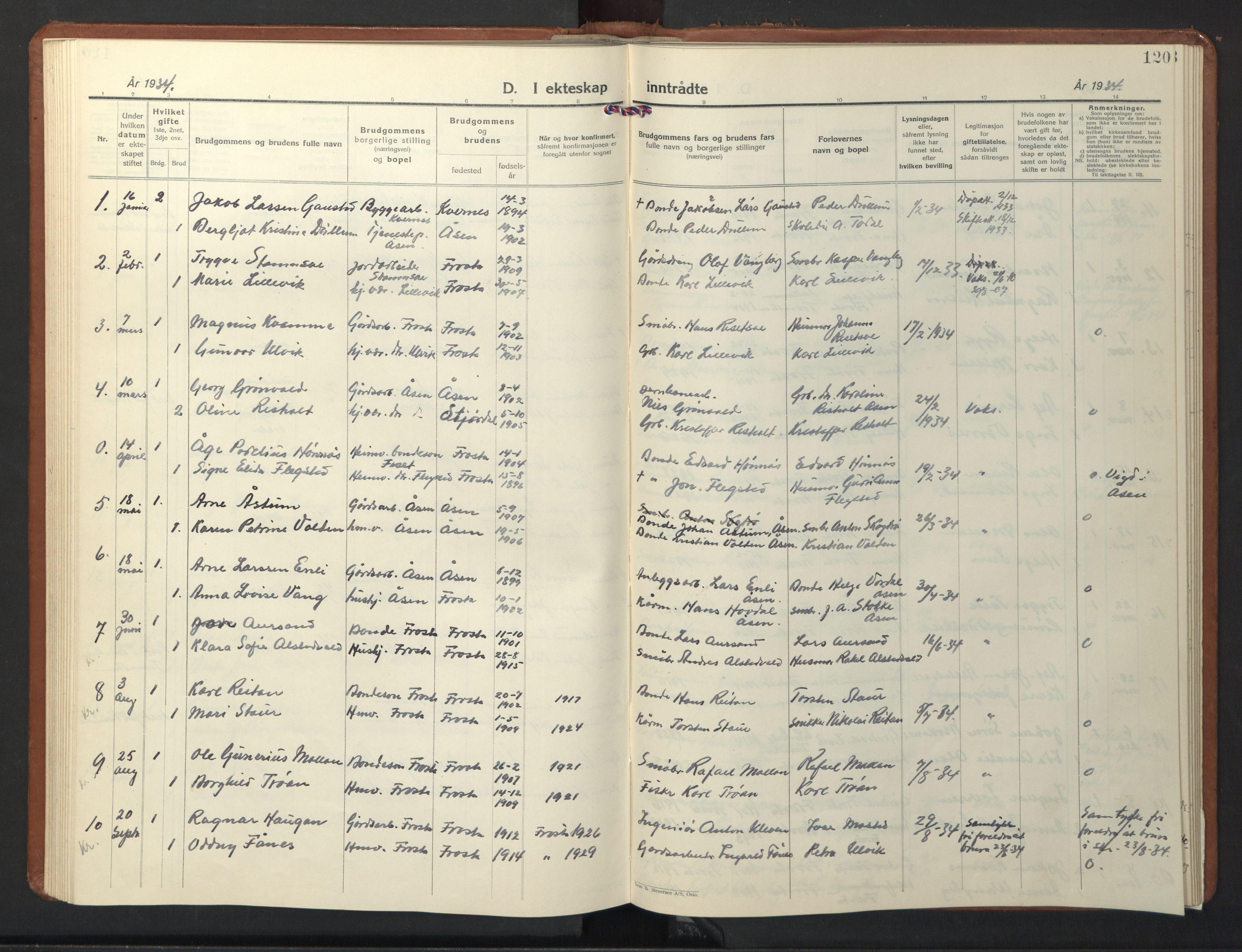 SAT, Ministerialprotokoller, klokkerbøker og fødselsregistre - Nord-Trøndelag, 713/L0125: Klokkerbok nr. 713C02, 1931-1941, s. 120