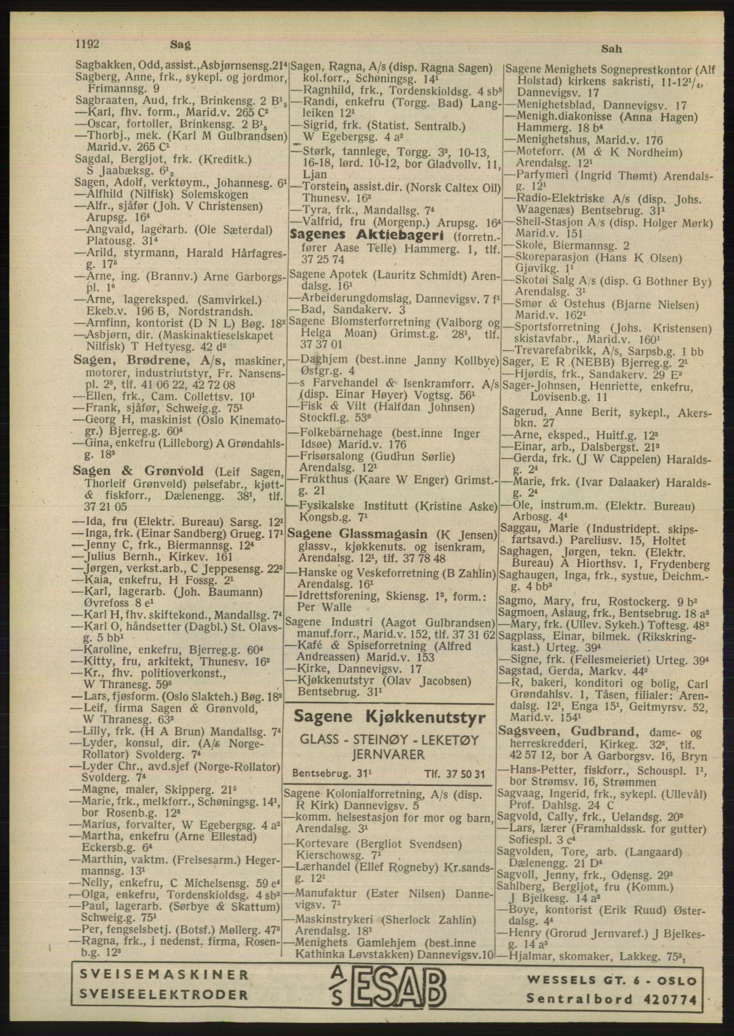 PUBL, Kristiania/Oslo adressebok, 1948, s. 1192