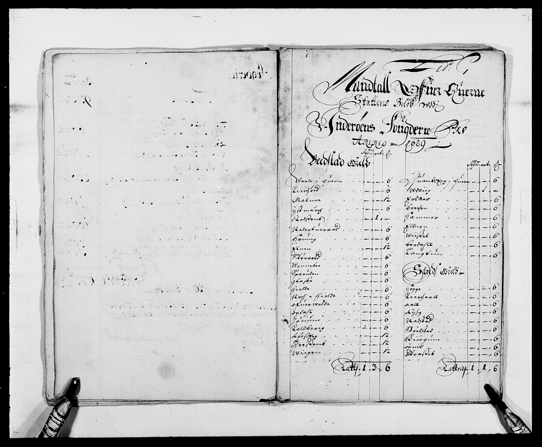 RA, Rentekammeret inntil 1814, Reviderte regnskaper, Fogderegnskap, R63/L4306: Fogderegnskap Inderøy, 1687-1689, s. 401