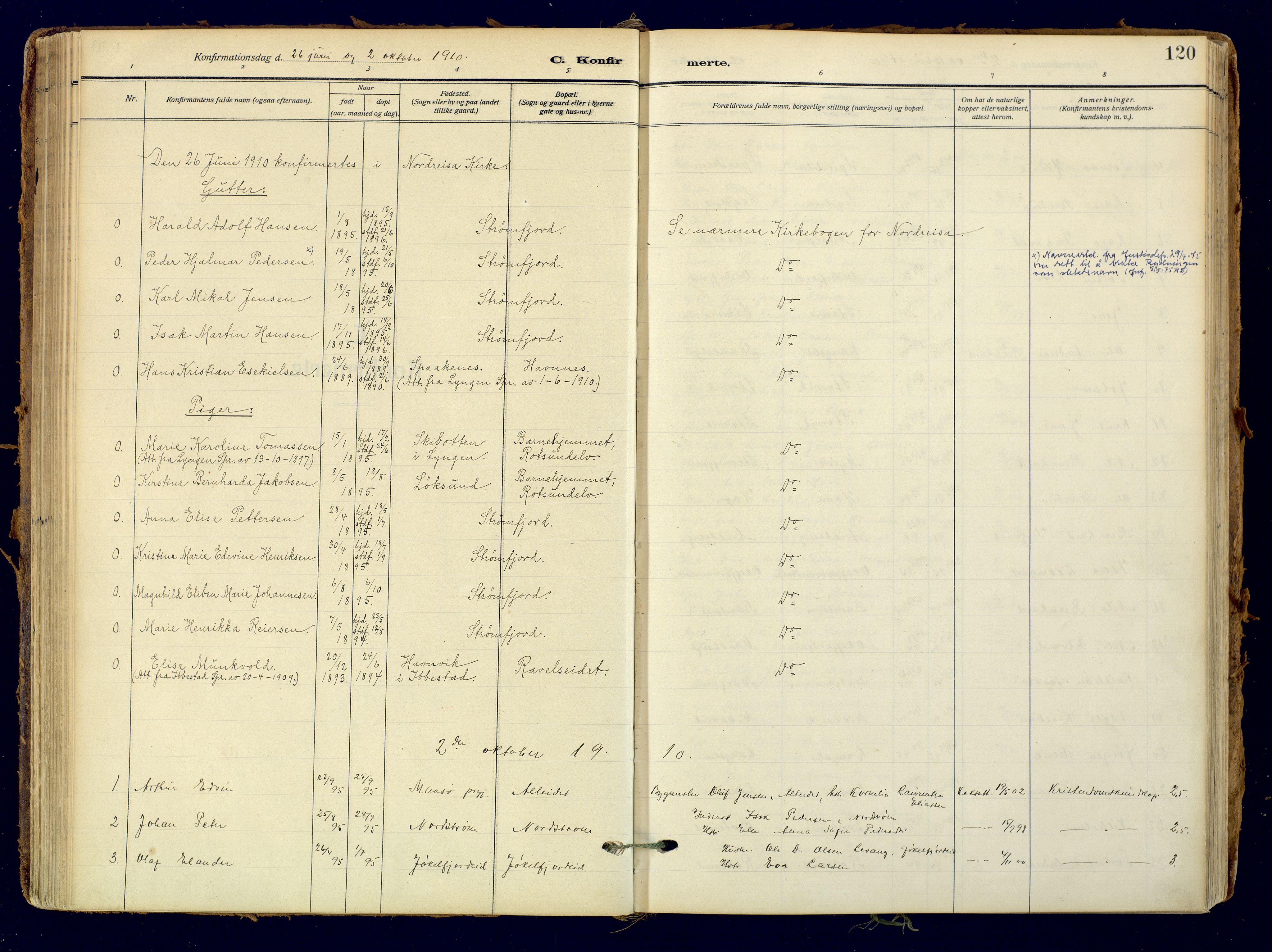 SATØ, Skjervøy sokneprestkontor, H/Ha/Haa: Ministerialbok nr. 18, 1910-1926, s. 120