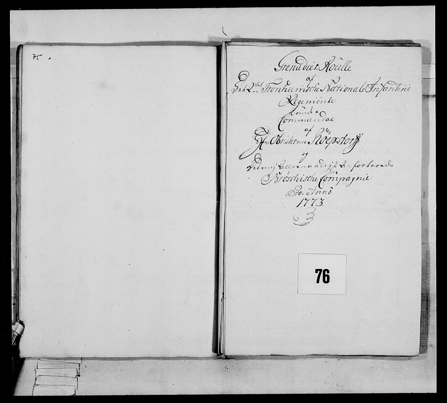 RA, Generalitets- og kommissariatskollegiet, Det kongelige norske kommissariatskollegium, E/Eh/L0076: 2. Trondheimske nasjonale infanteriregiment, 1766-1773, s. 367