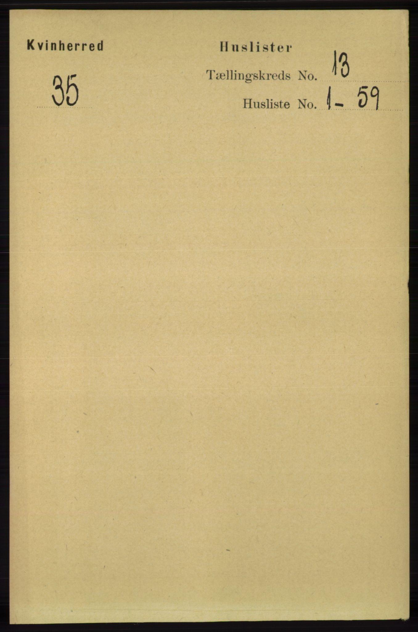 RA, Folketelling 1891 for 1224 Kvinnherad herred, 1891, s. 4205