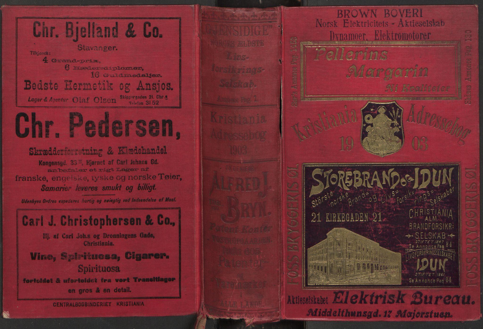 PUBL, Kristiania/Oslo adressebok, 1903