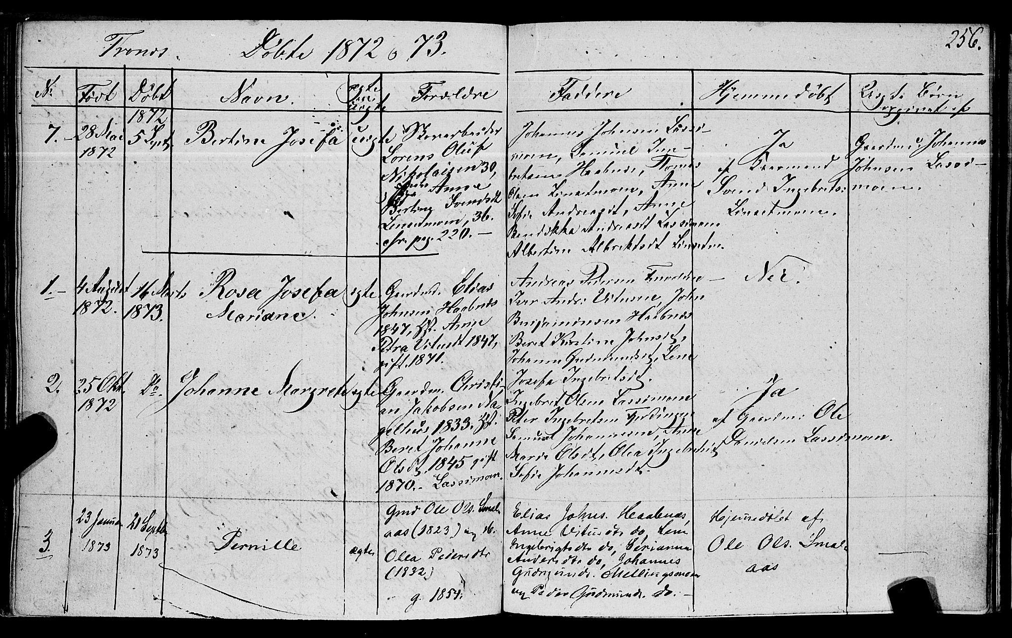 SAT, Ministerialprotokoller, klokkerbøker og fødselsregistre - Nord-Trøndelag, 762/L0538: Ministerialbok nr. 762A02 /2, 1833-1879, s. 256