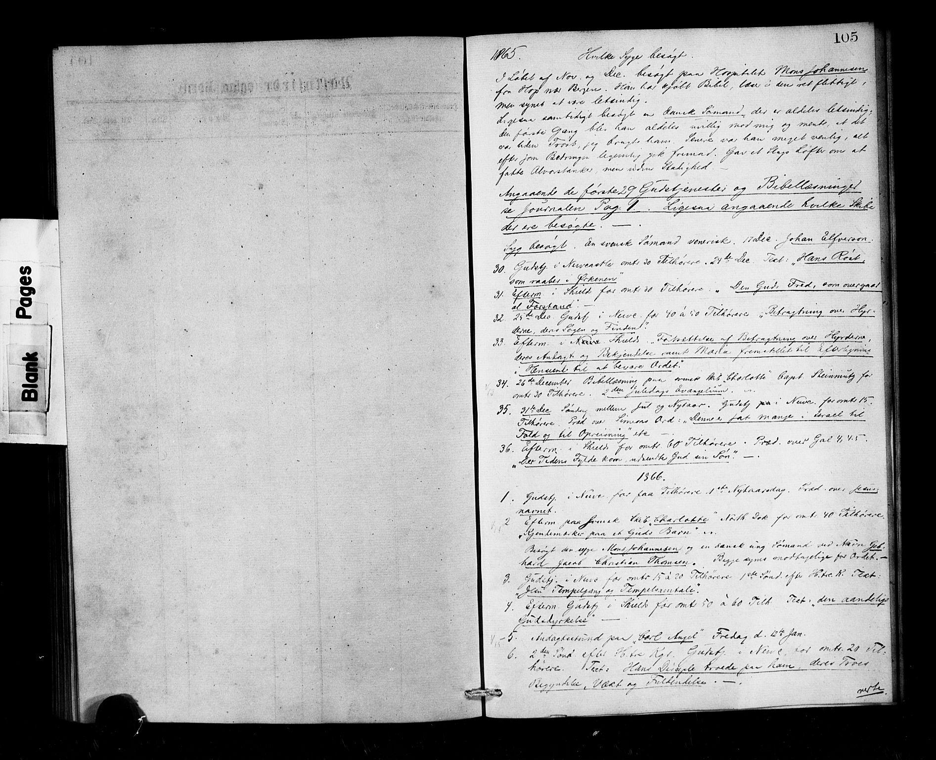 SAB, Privatarkiv 101 - Den norske sjømannsmisjon i utlandet/Tyne-havnene (North Shields og New Castle), H/Ha/L0001: Ministerialbok nr. A 1, 1865-1883, s. 105