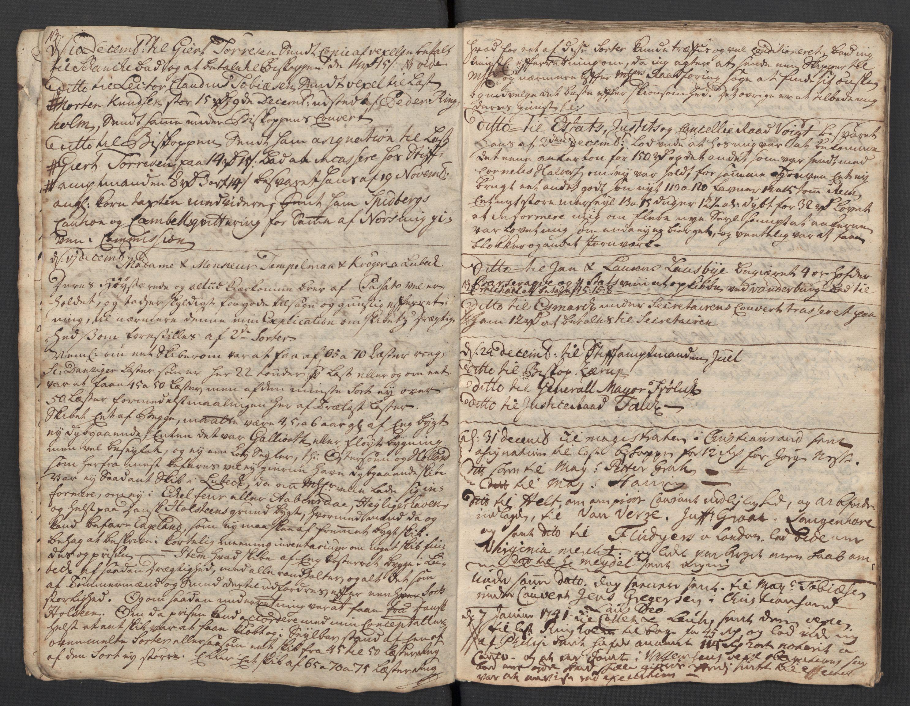 SAST, Pa 0119 - Smith, Lauritz Andersen og Lauritz Lauritzen, O/L0001: Kopibøker m.m., 1740-1745, s. 15