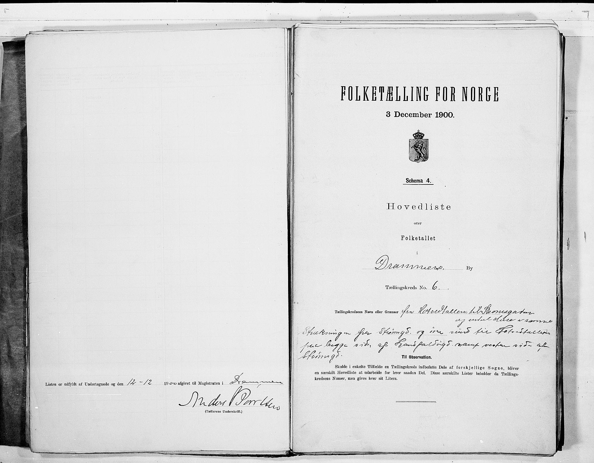 RA, Folketelling 1900 for 0602 Drammen kjøpstad, 1900, s. 17