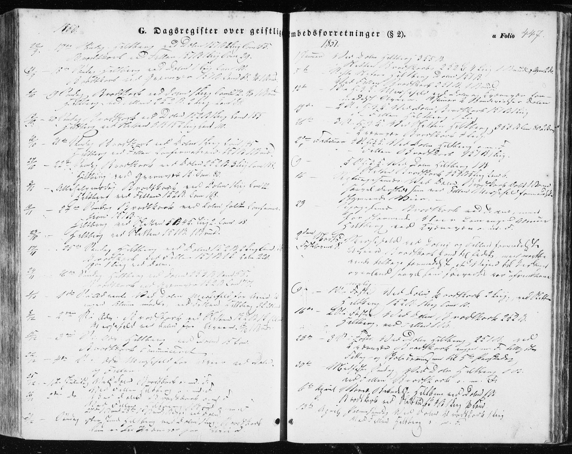 SAT, Ministerialprotokoller, klokkerbøker og fødselsregistre - Sør-Trøndelag, 634/L0529: Ministerialbok nr. 634A05, 1843-1851, s. 447