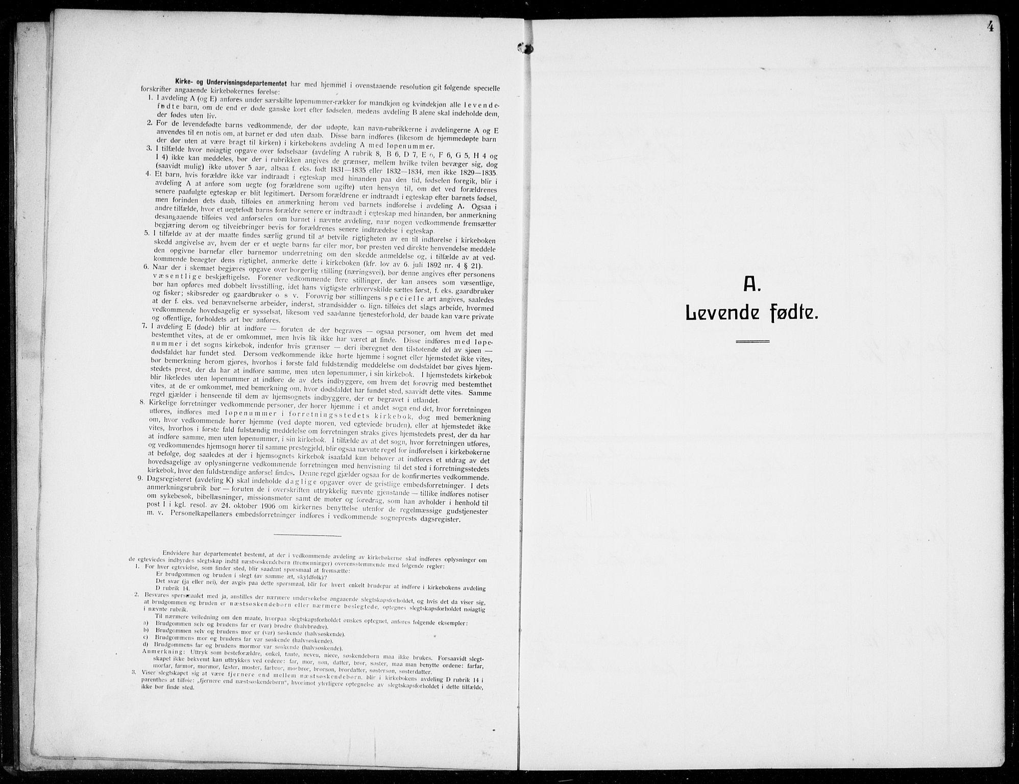 SAB, Masfjorden Sokneprestembete, Klokkerbok nr. B  2, 1912-1939, s. 4