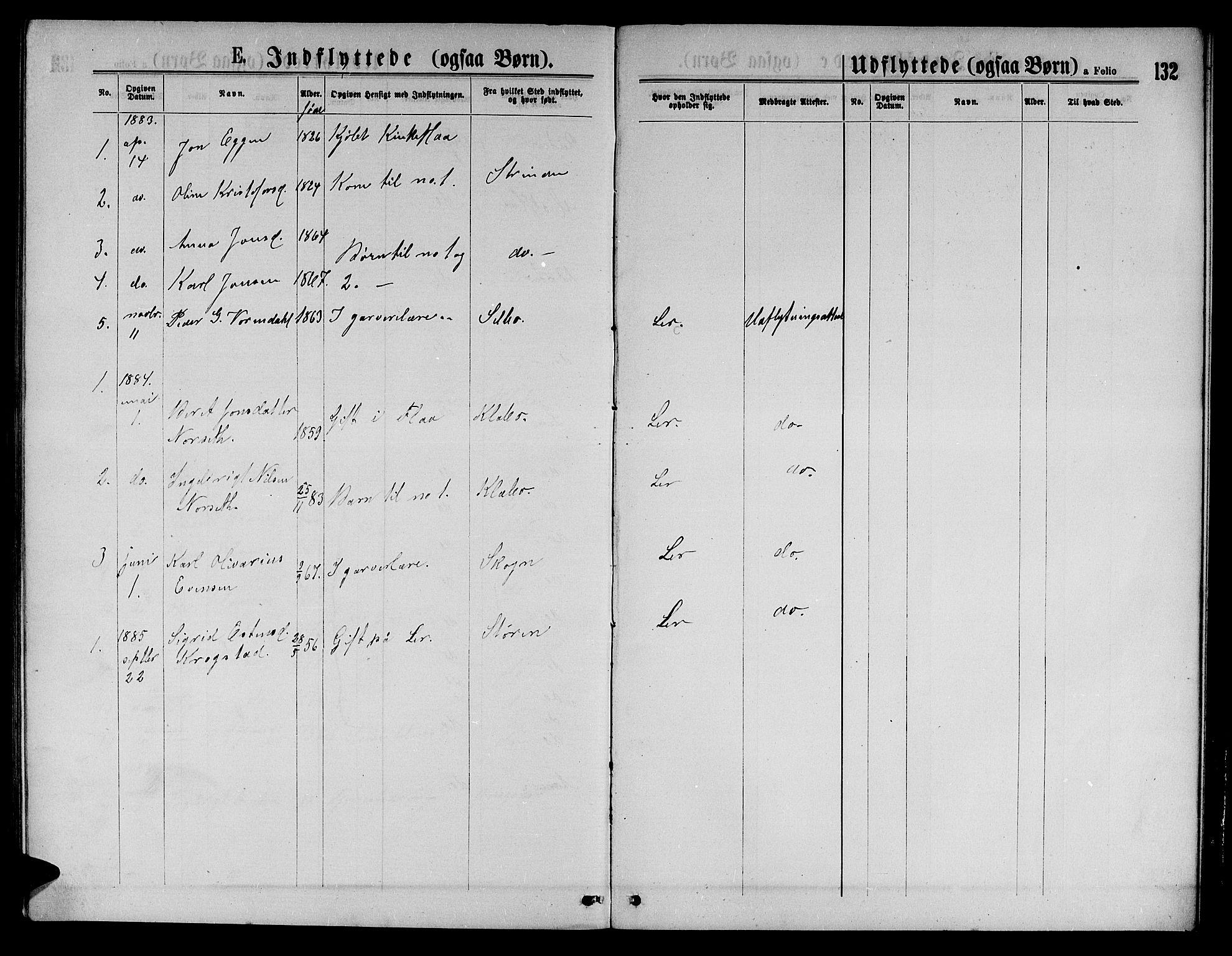 SAT, Ministerialprotokoller, klokkerbøker og fødselsregistre - Sør-Trøndelag, 693/L1122: Klokkerbok nr. 693C03, 1870-1886, s. 132