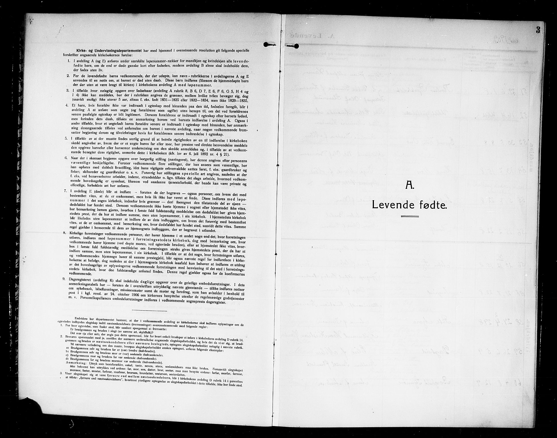 SAKO, Larvik kirkebøker, G/Ga/L0008: Klokkerbok nr. I 8, 1909-1920, s. 3