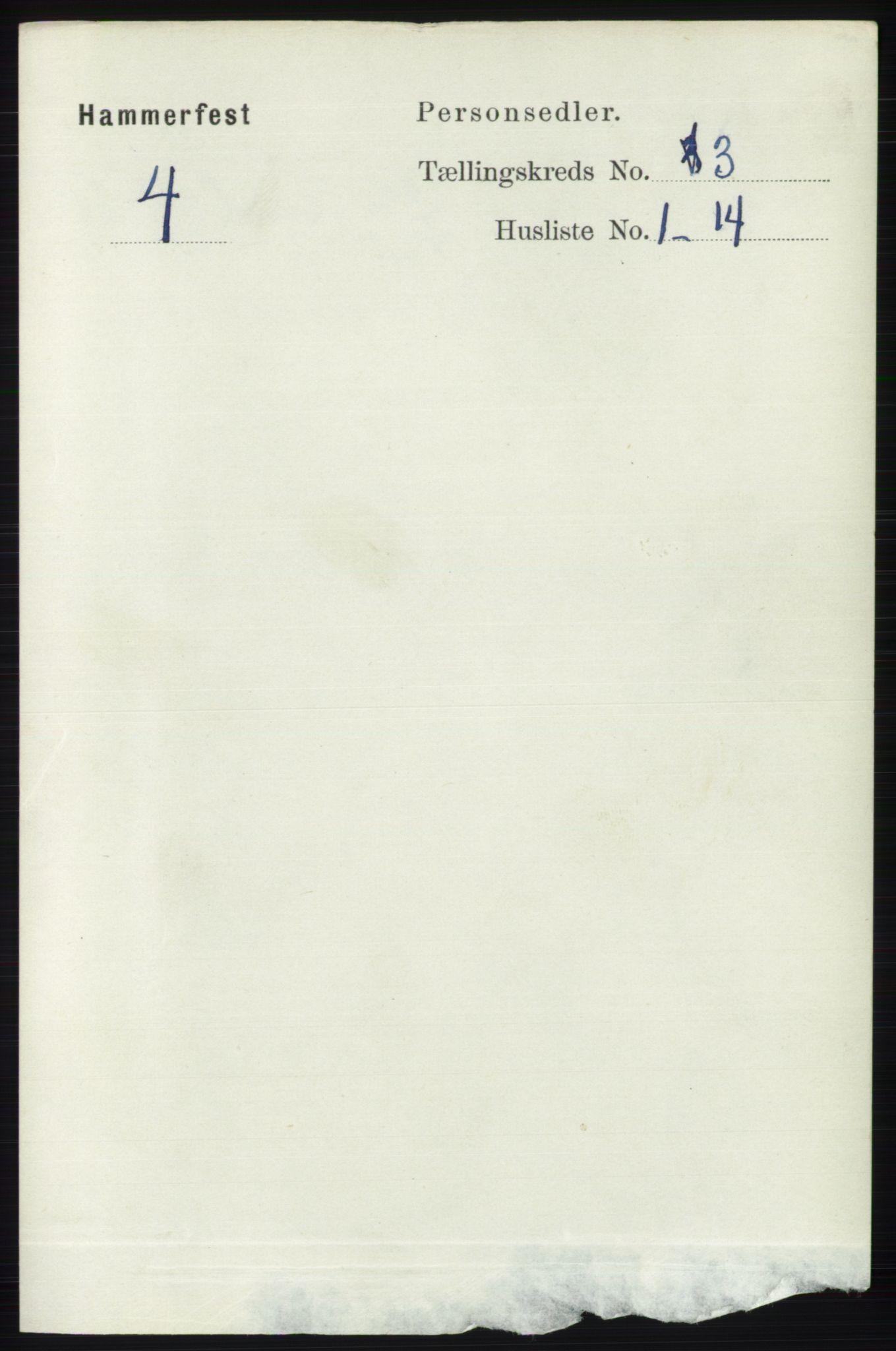 RA, Folketelling 1891 for 2001 Hammerfest kjøpstad, 1891, s. 618