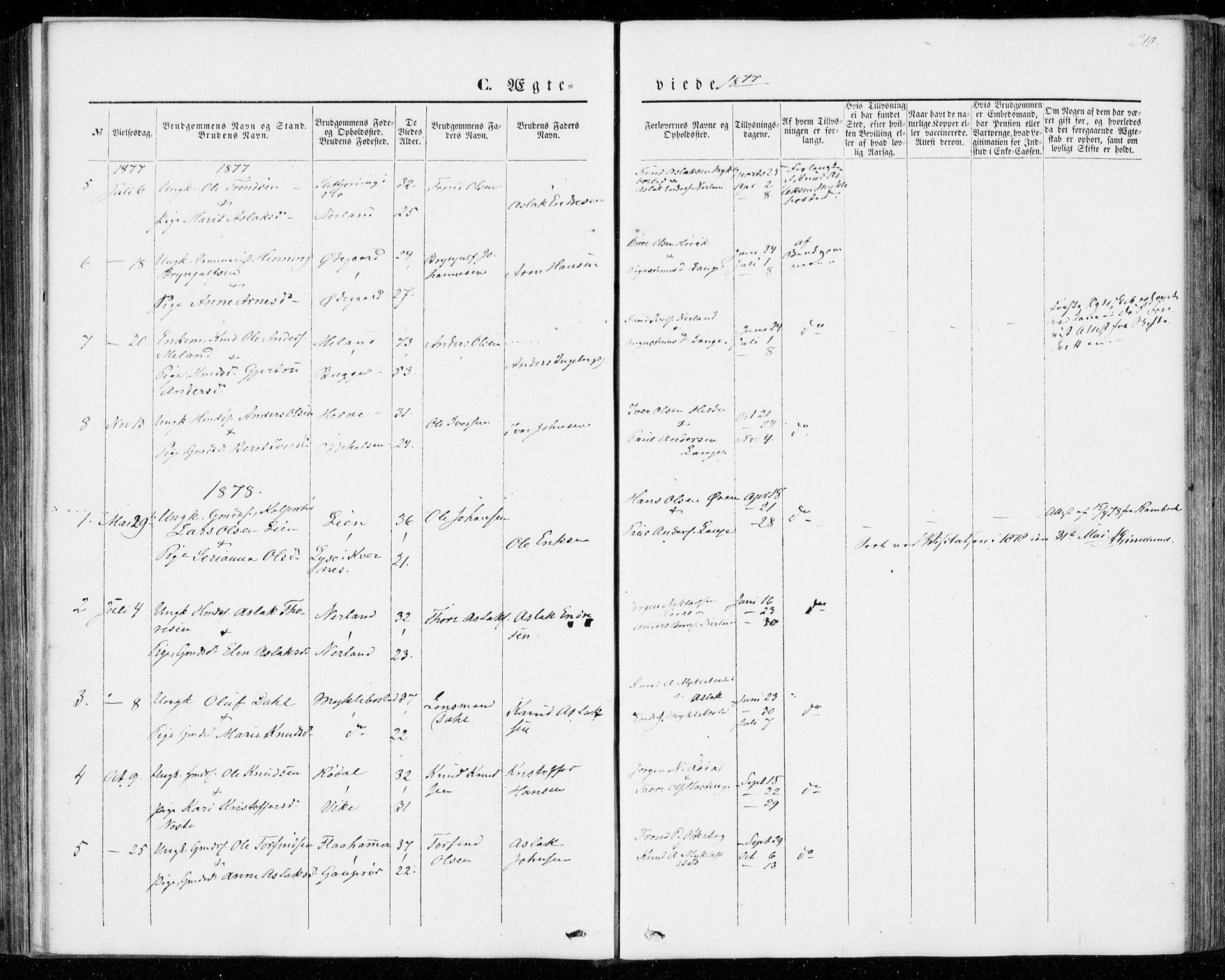 SAT, Ministerialprotokoller, klokkerbøker og fødselsregistre - Møre og Romsdal, 554/L0643: Ministerialbok nr. 554A01, 1846-1879, s. 210