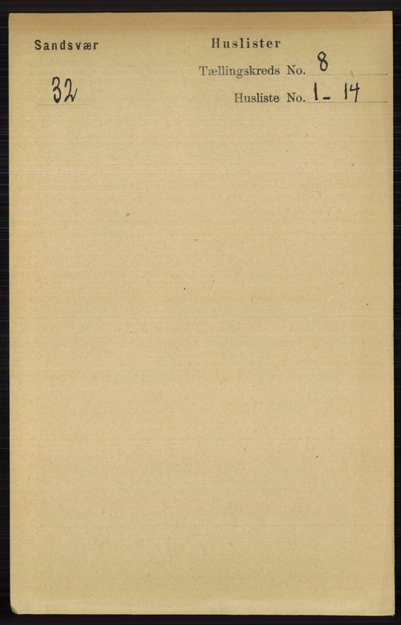 RA, Folketelling 1891 for 0629 Sandsvær herred, 1891, s. 4266