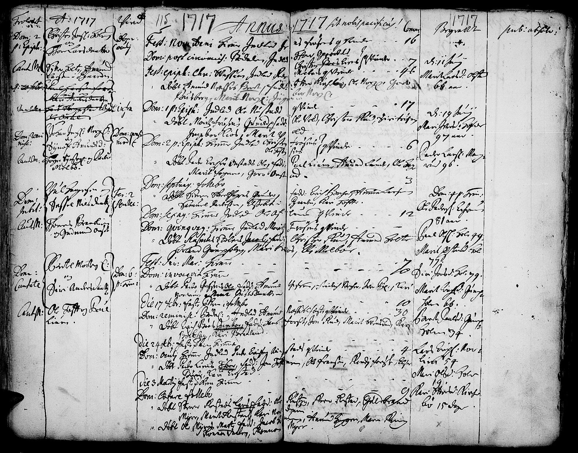 SAH, Gausdal prestekontor, Ministerialbok nr. 1, 1693-1728, s. 115