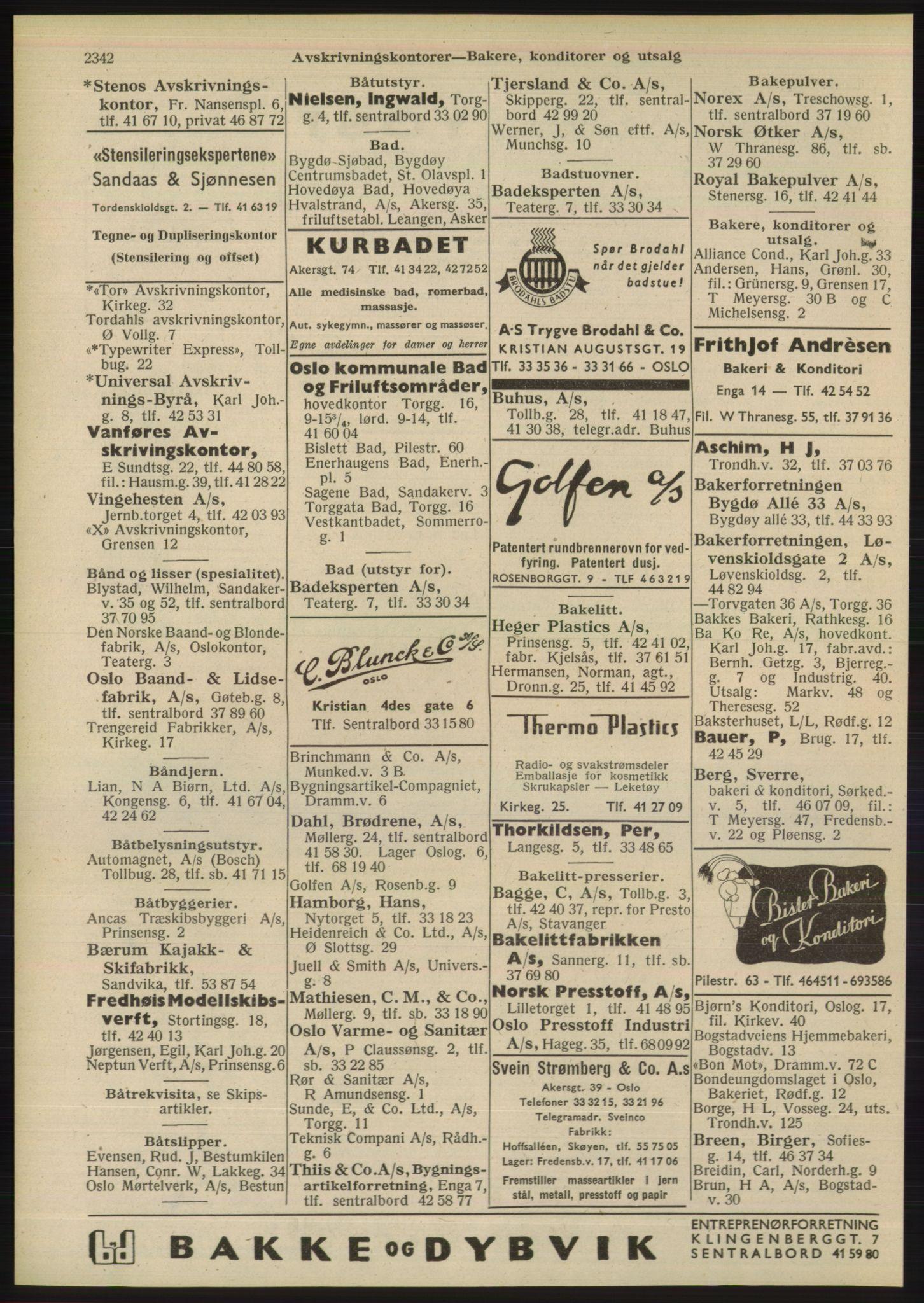 RA, Oslo adressebok (publikasjon)*, 1948, s. 2342