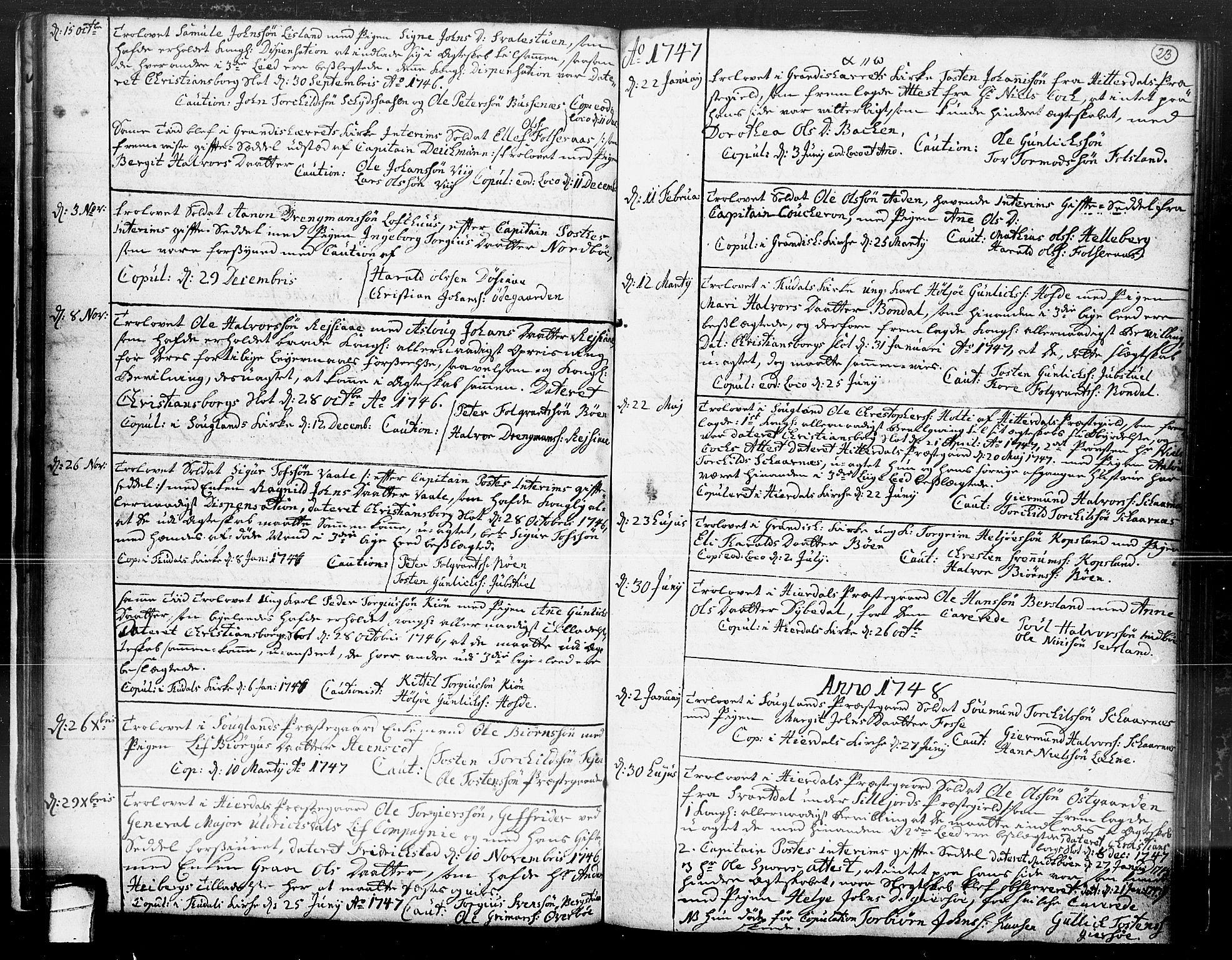 SAKO, Hjartdal kirkebøker, F/Fa/L0004: Ministerialbok nr. I 4, 1727-1795, s. 23