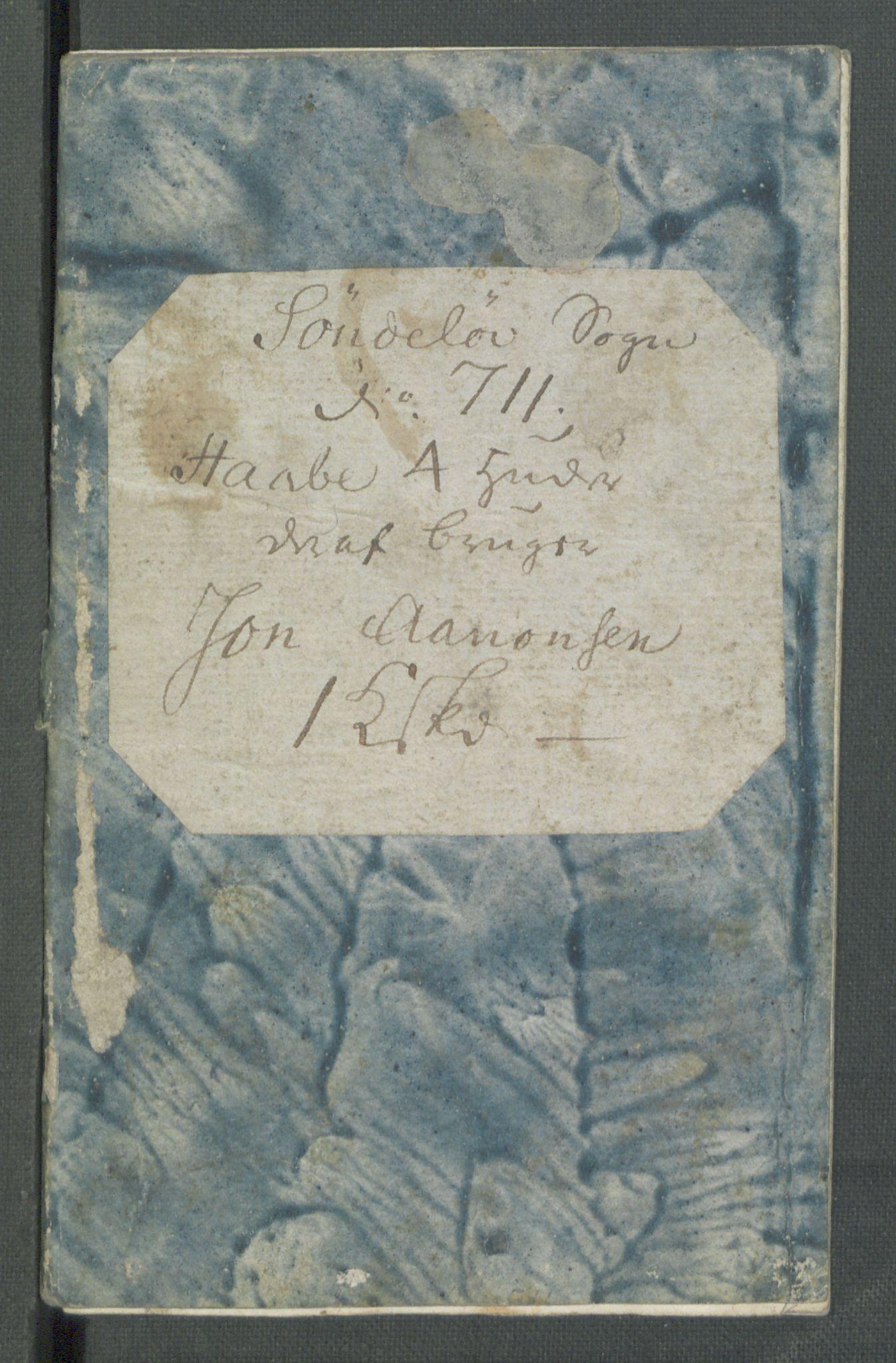 RA, Rentekammeret inntil 1814, Realistisk ordnet avdeling, Od/L0001: Oppløp, 1786-1769, s. 729